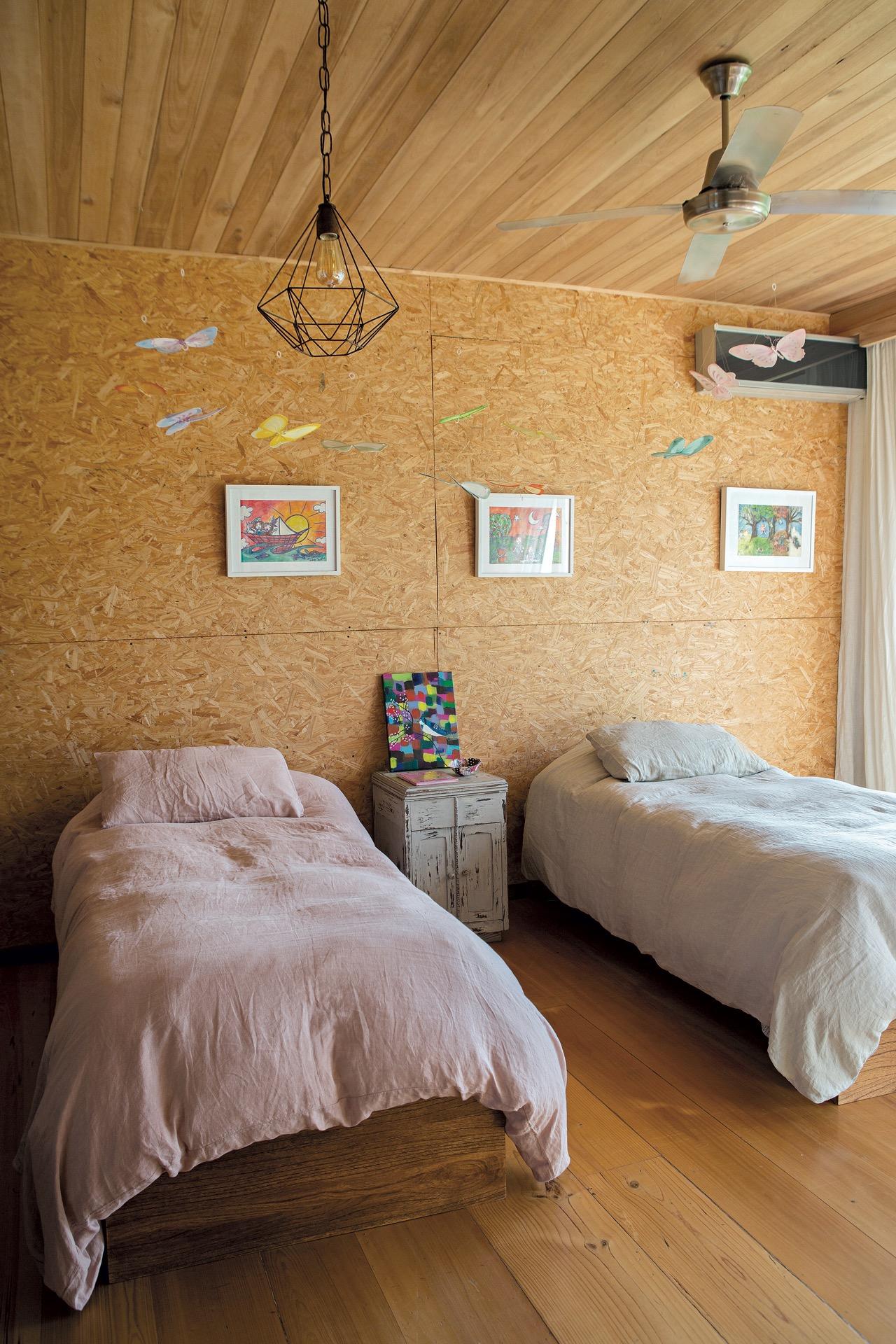 Una propuesta original y económica: aglomerado en el cuarto infantil.