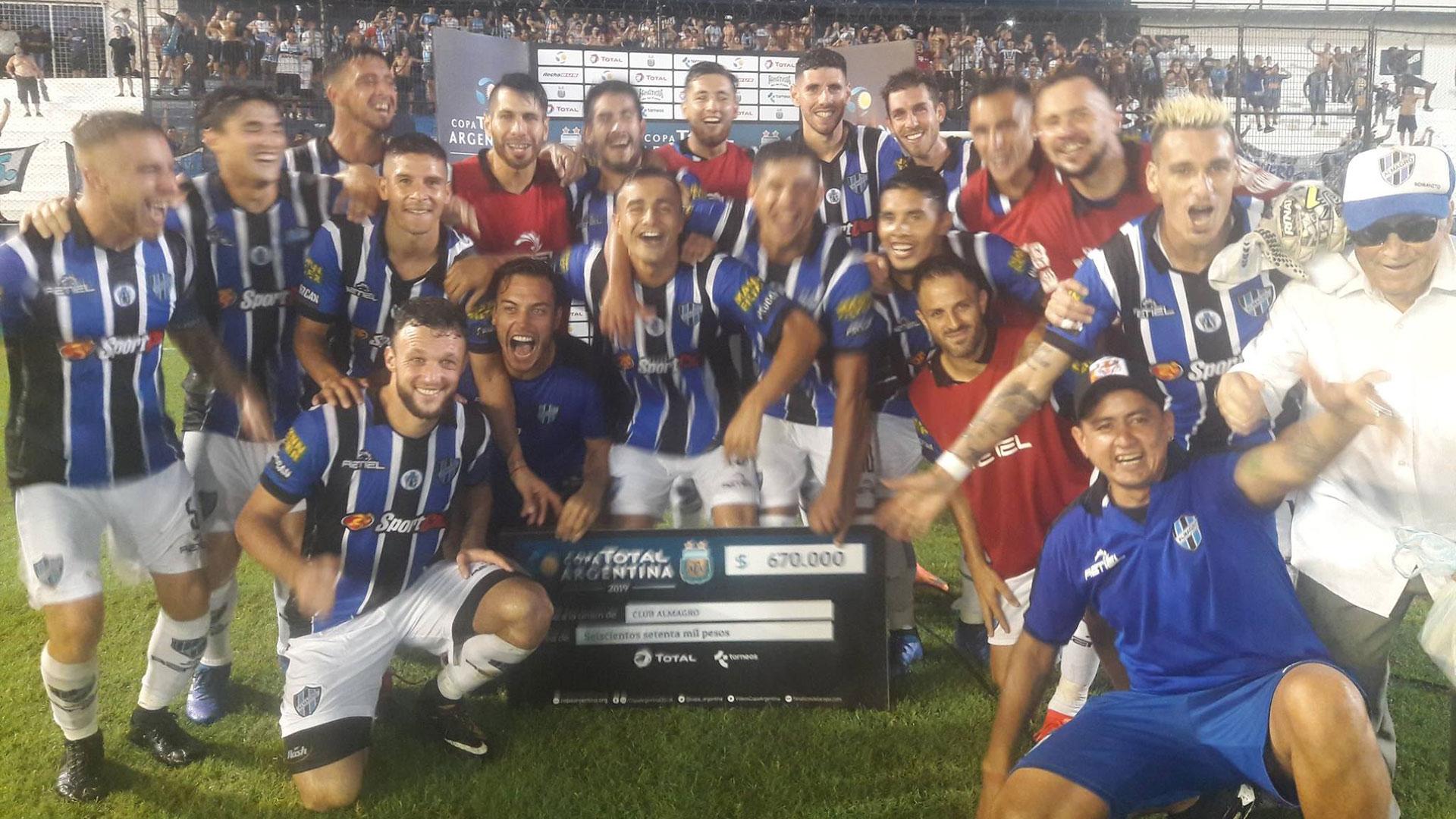 Almagro eliminó por penales a Atlético de Rafaela por los 32avos de final de la Copa Argentina (Foto: Copa Argentina)