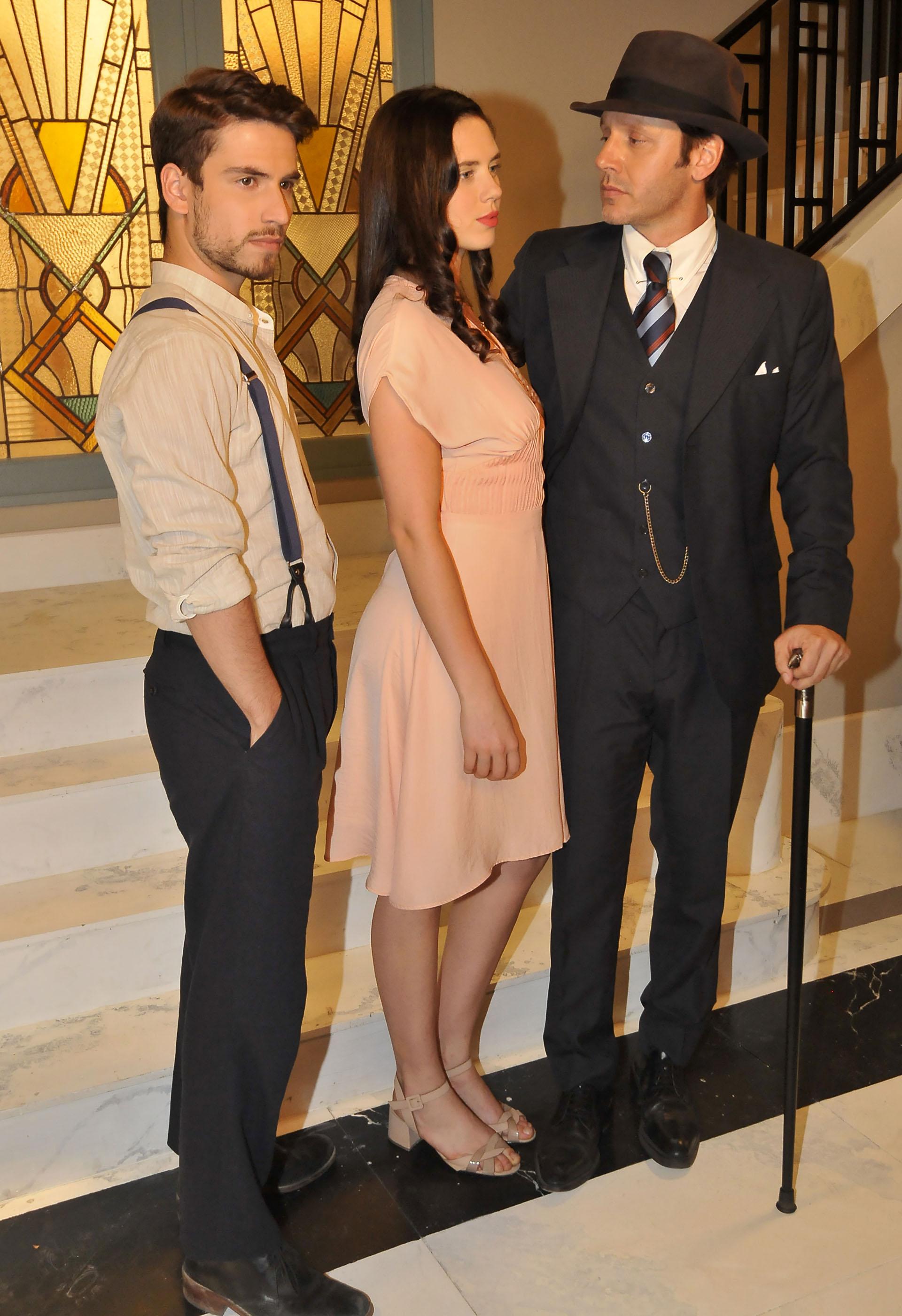 Albert Baró, Delfina Chaves y Benjamín Vicuña (Foto: Teleshow)