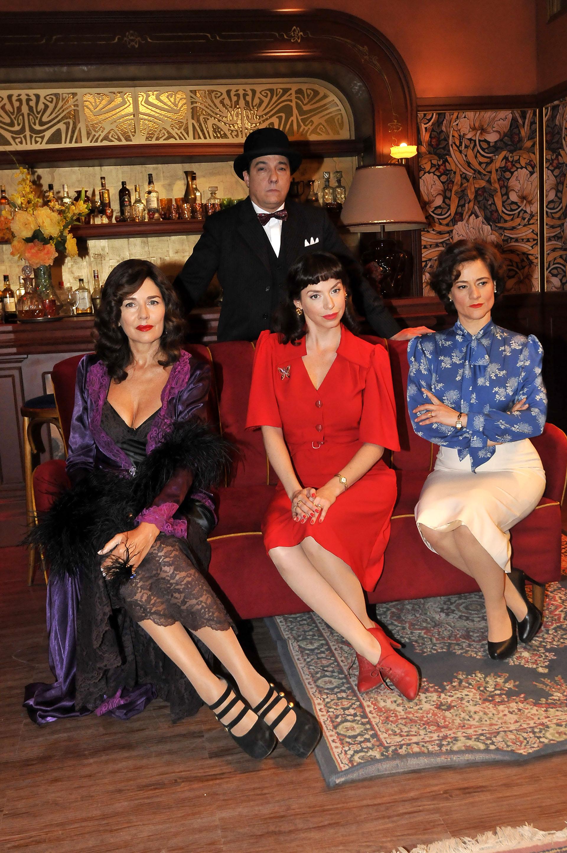Andrea Frigerio, Mercedes Funes, Virginia Innocenti y Fernán Mirás (Fotos: Teleshow)