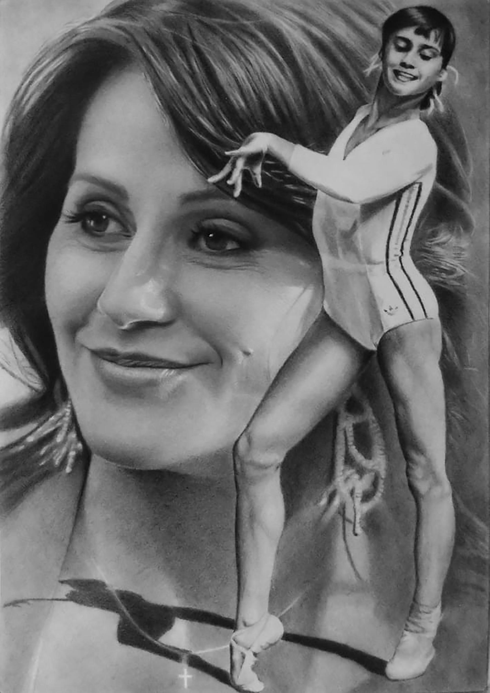 Nadia Comaneci, por Isrrael Villablanca