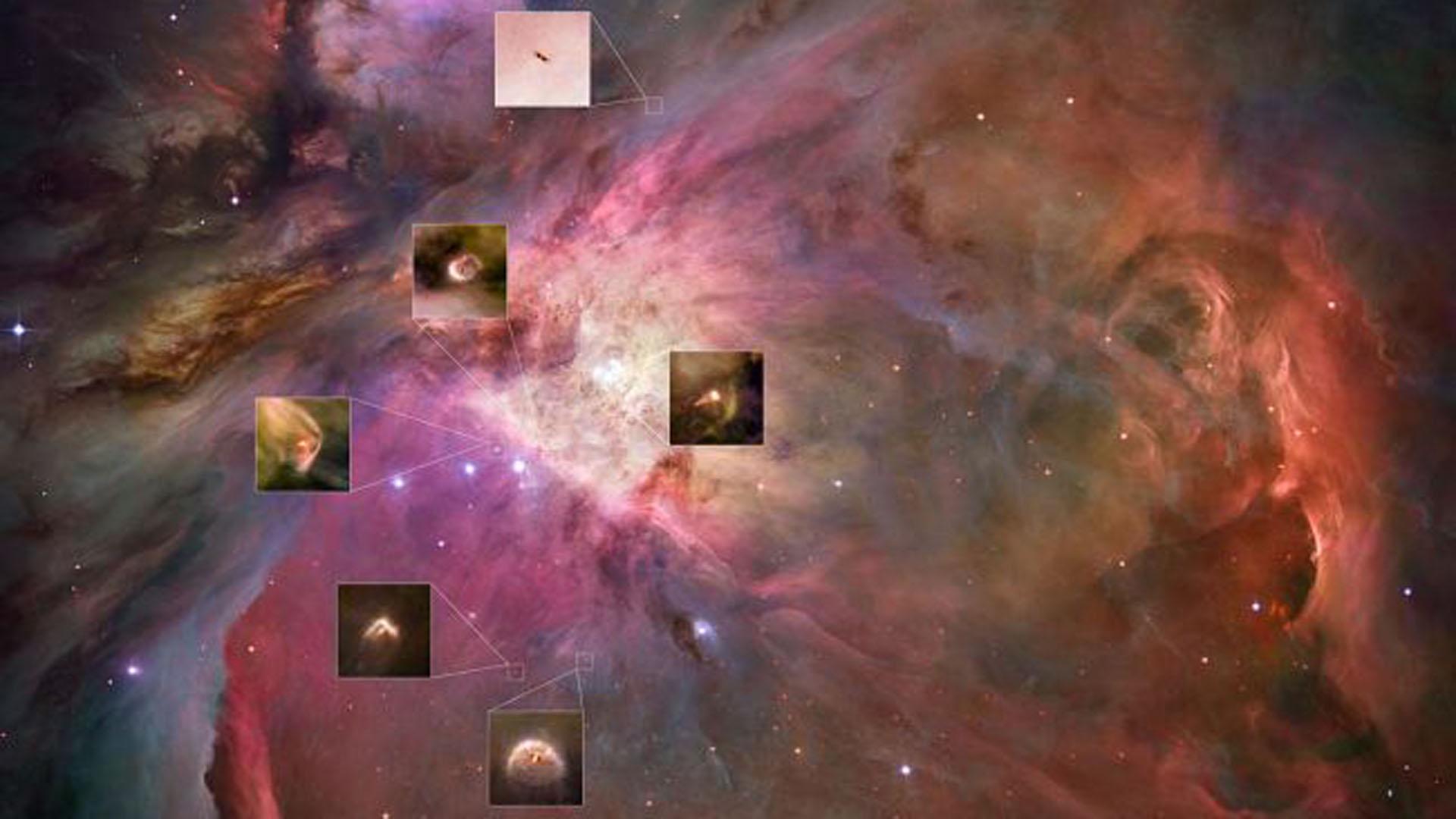 El Hubble pudo demostrar que los discos protoplanetarios de gas y polvo se encuentran en todas partes alrededor de muchas estrellas jóvenes