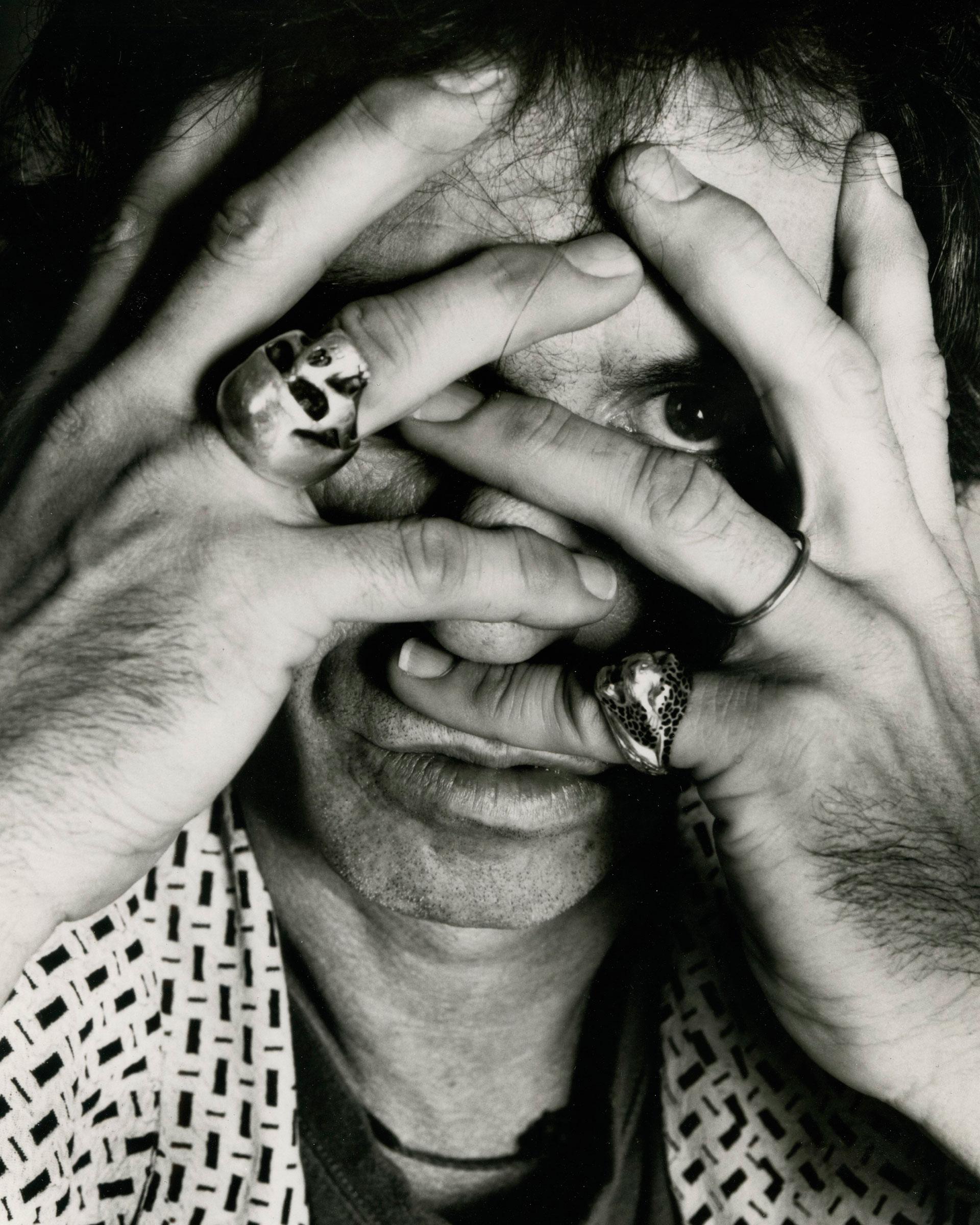 Richards, en una de sus imágenes irónicas. Foto: Gentileza BMG.