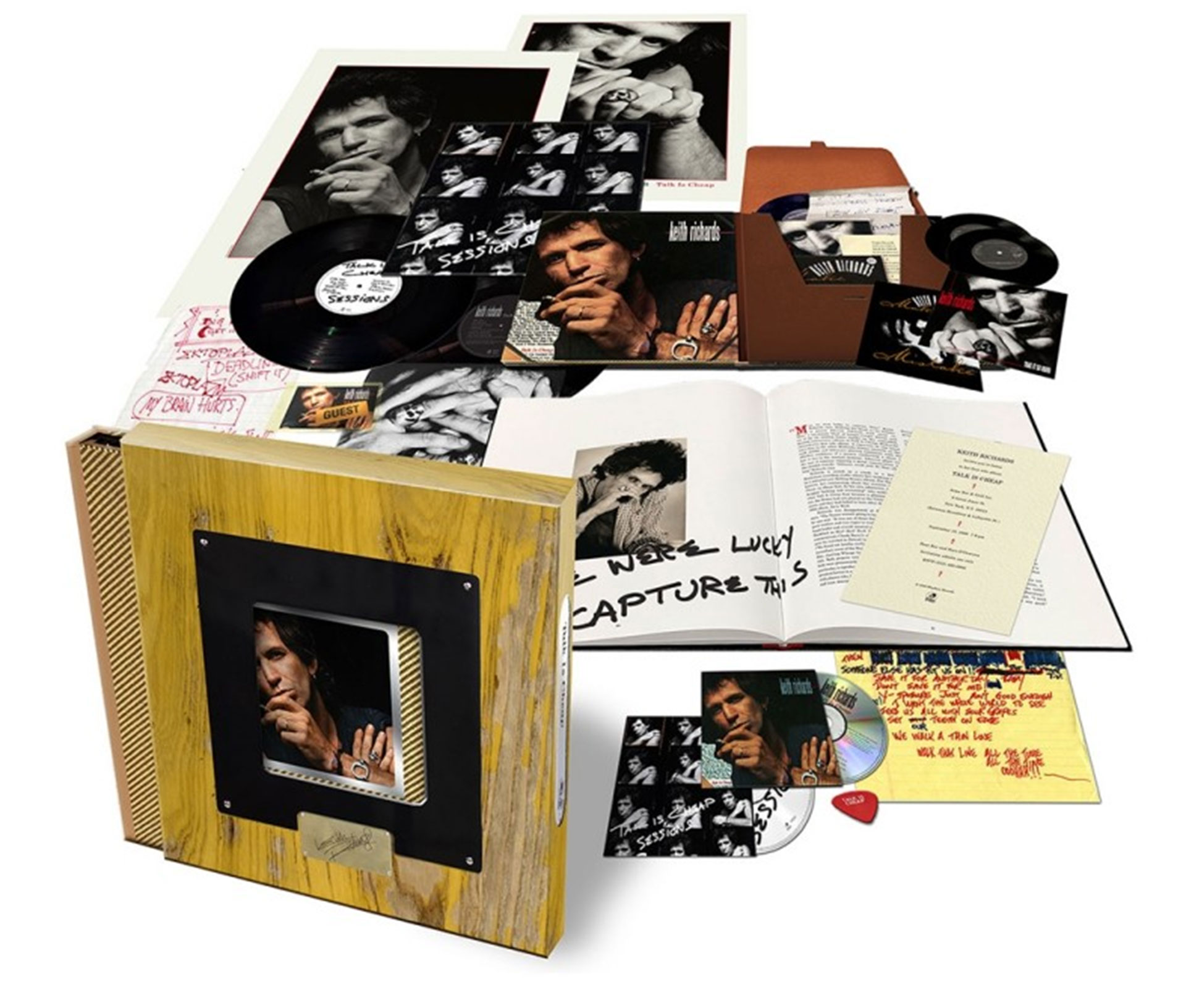 El Box Set Deluxe que salió a la venta con la reedición de Talk is cheap. Foto: Sitio Oficial KR.