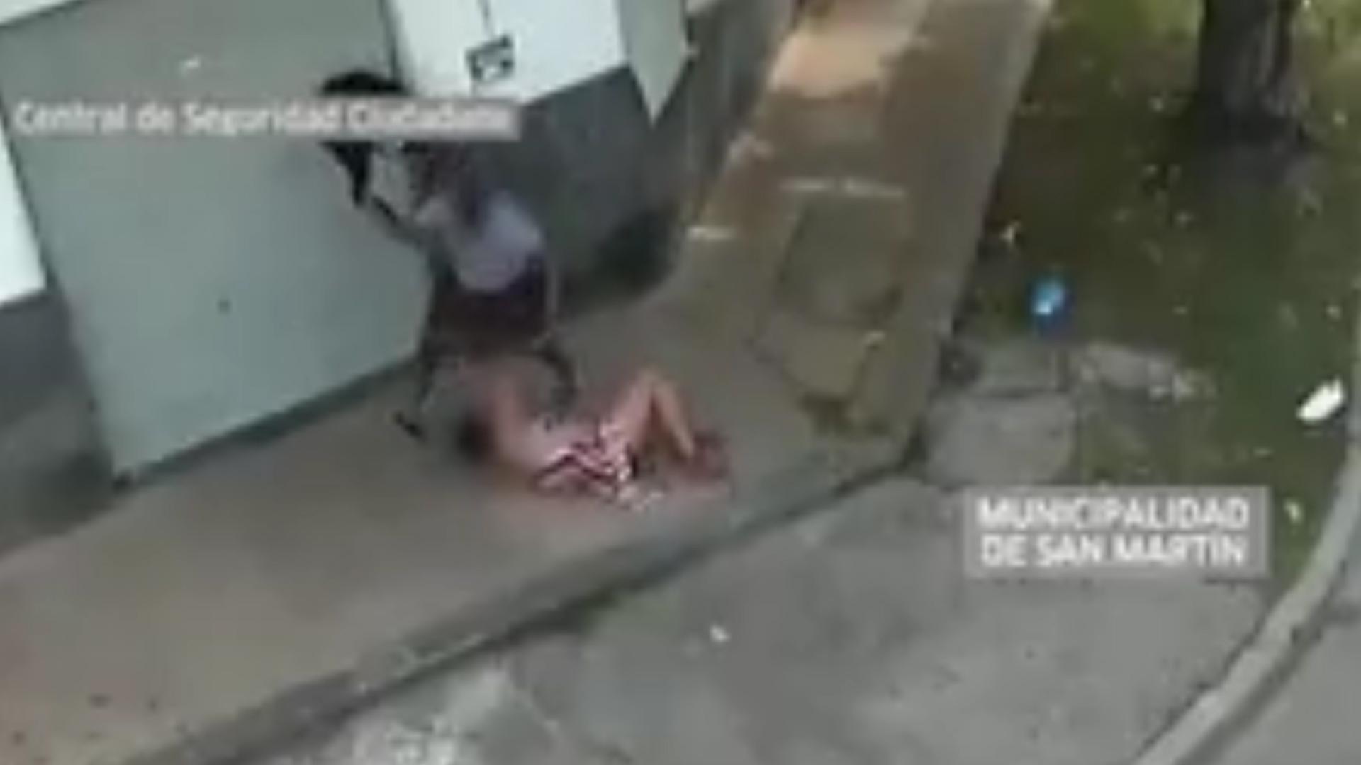 Las imágenes fueron captadas por la Central de Seguridad Ciudadana de San Martín