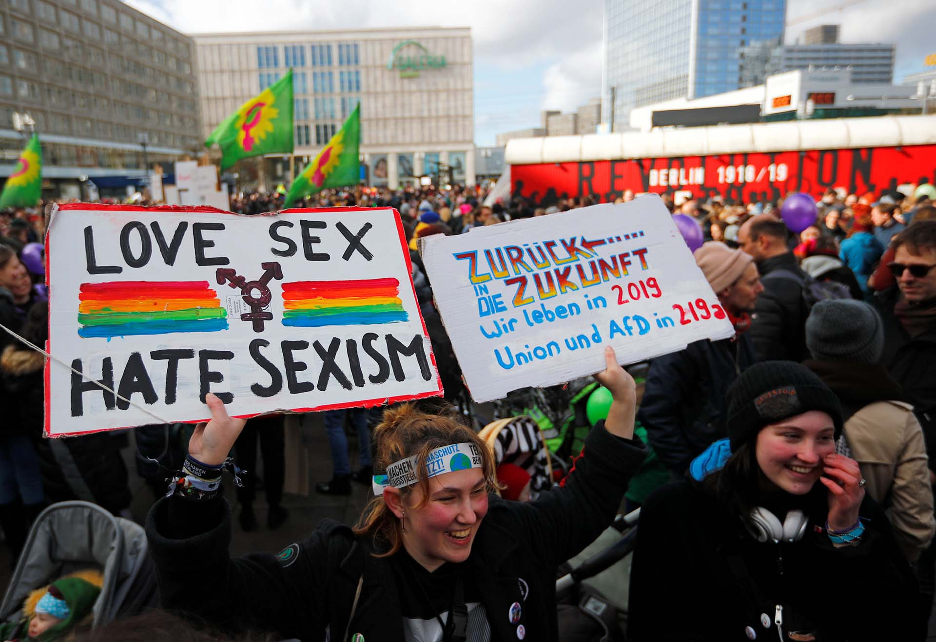 Manifestación por el Día de la Mujer en Berlín, Alemania (REUTERS/Hannibal Hanschke)
