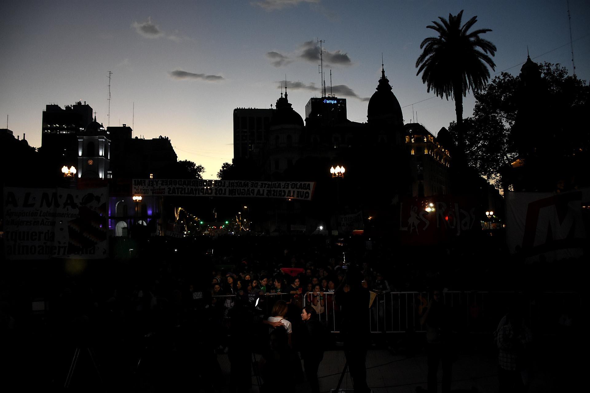 La concentración en Plaza de Mayo terminó con la lectura de un documento