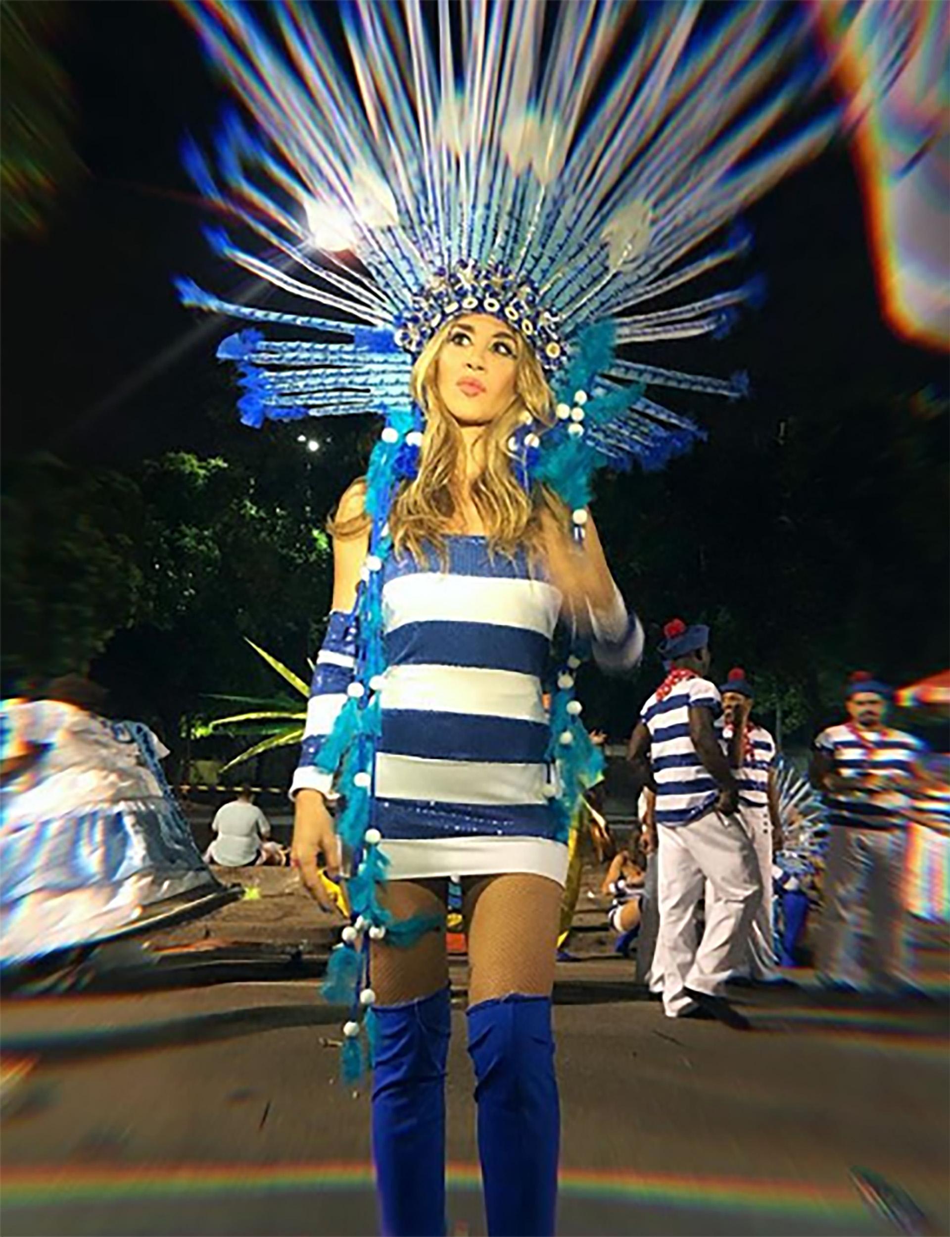 Jimena Barón fue convocada por Jean Paul Gaultier para que desfile con sus diseños en el carnaval de Río de Janeiro (Foto: Instagram)