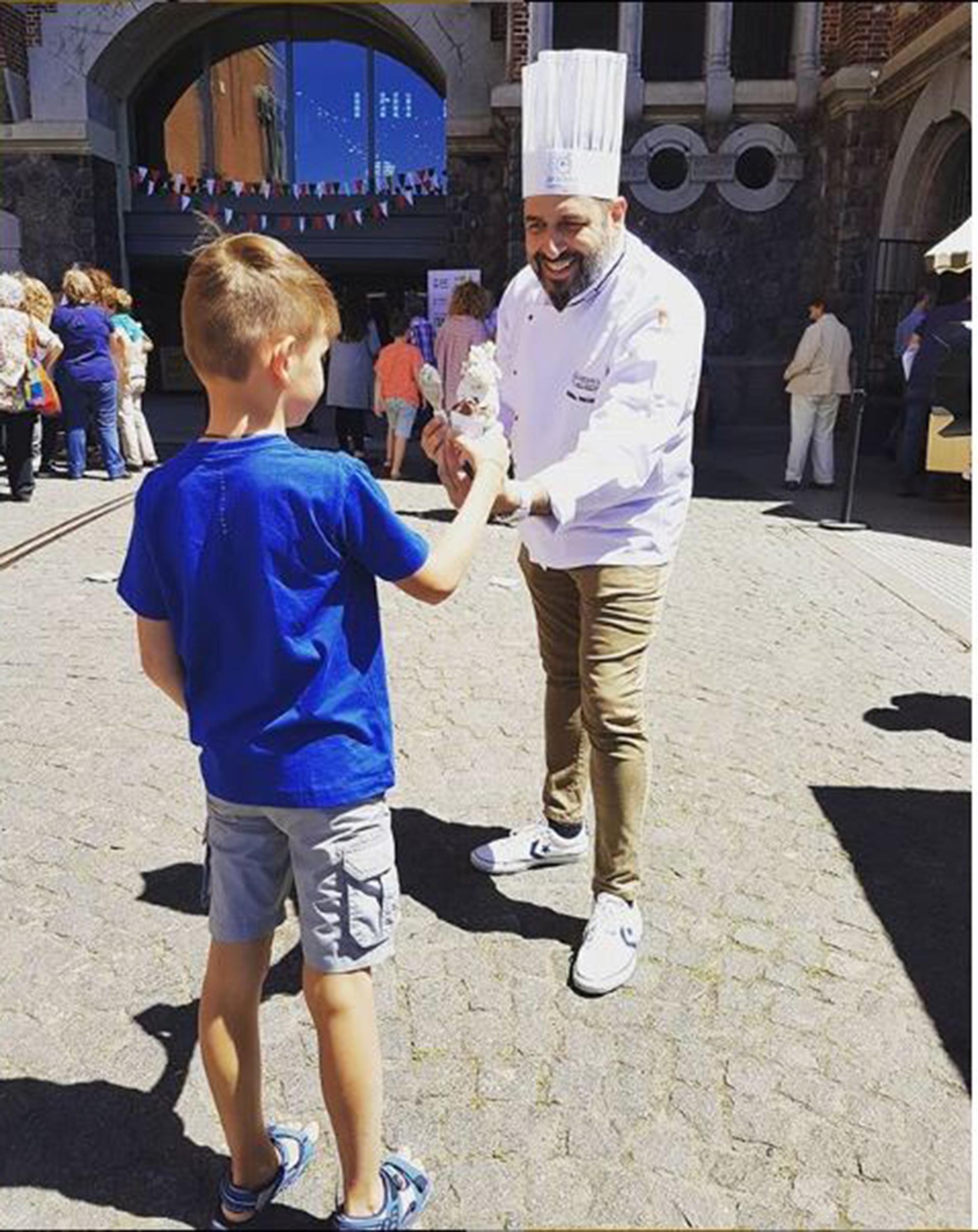 Maximiliano Maccarrone participó de la semana de la comida italiana en Buenos Aires con su heladería