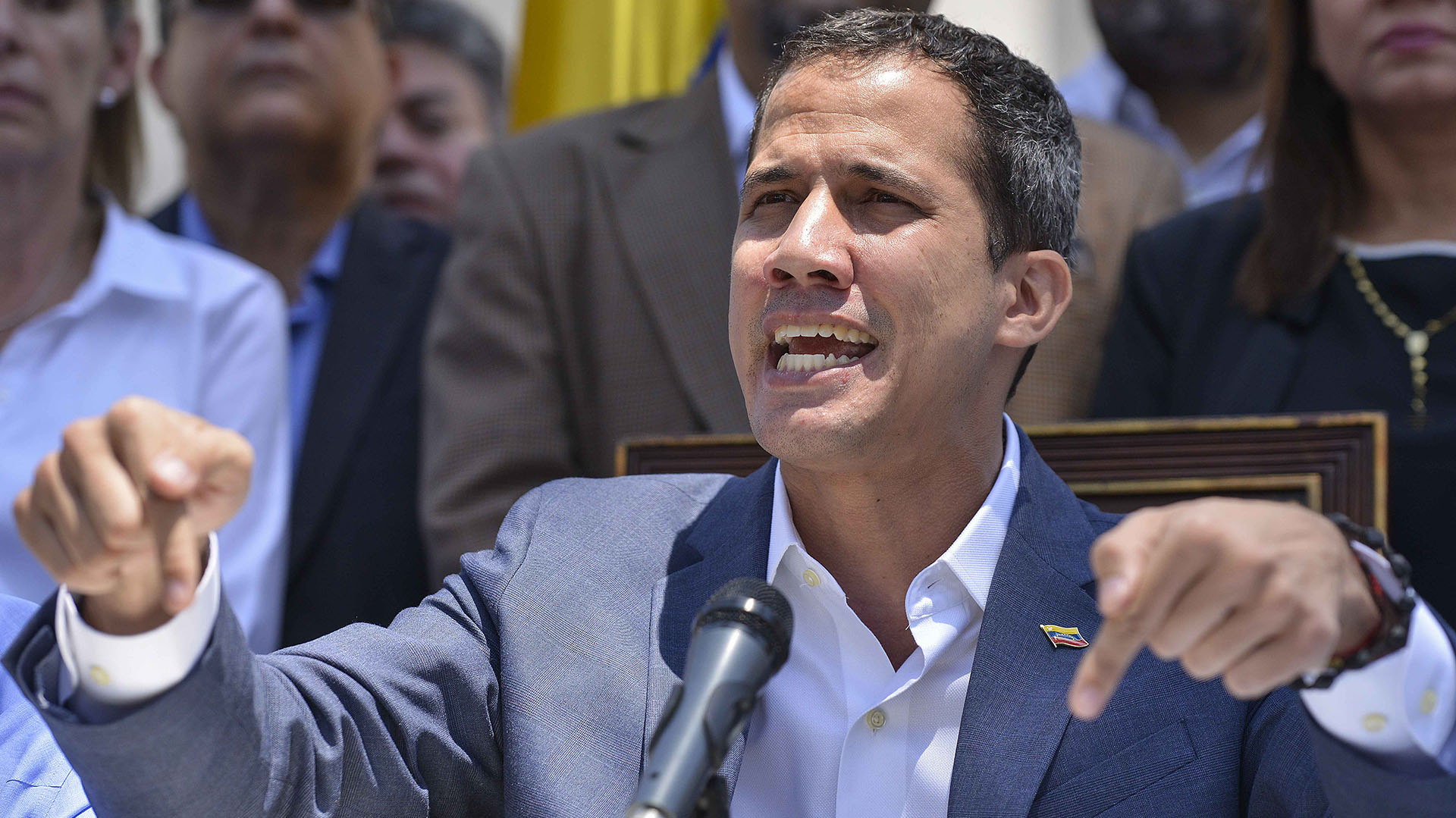 Juan Guaidó. (Photo by Matias DELACROIX / AFP)