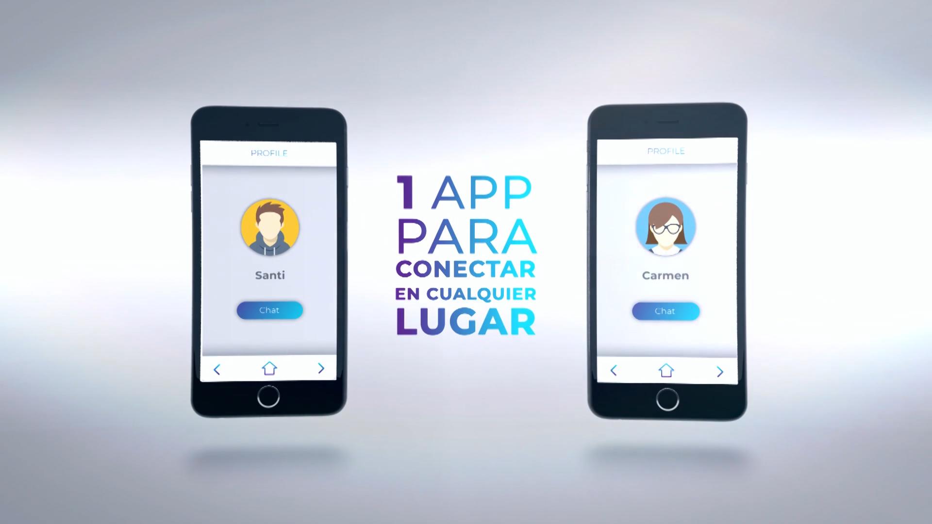 La app recoge y replica los datos que recopilan los sensores de los gadgets.