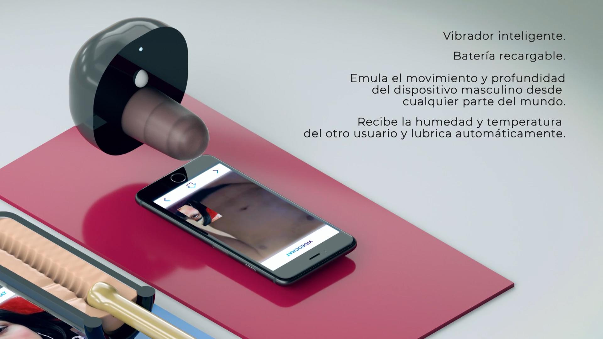 La app permite tener un video chat para poder interactuar con el otro usuario, mientras se usa el dispositivo.