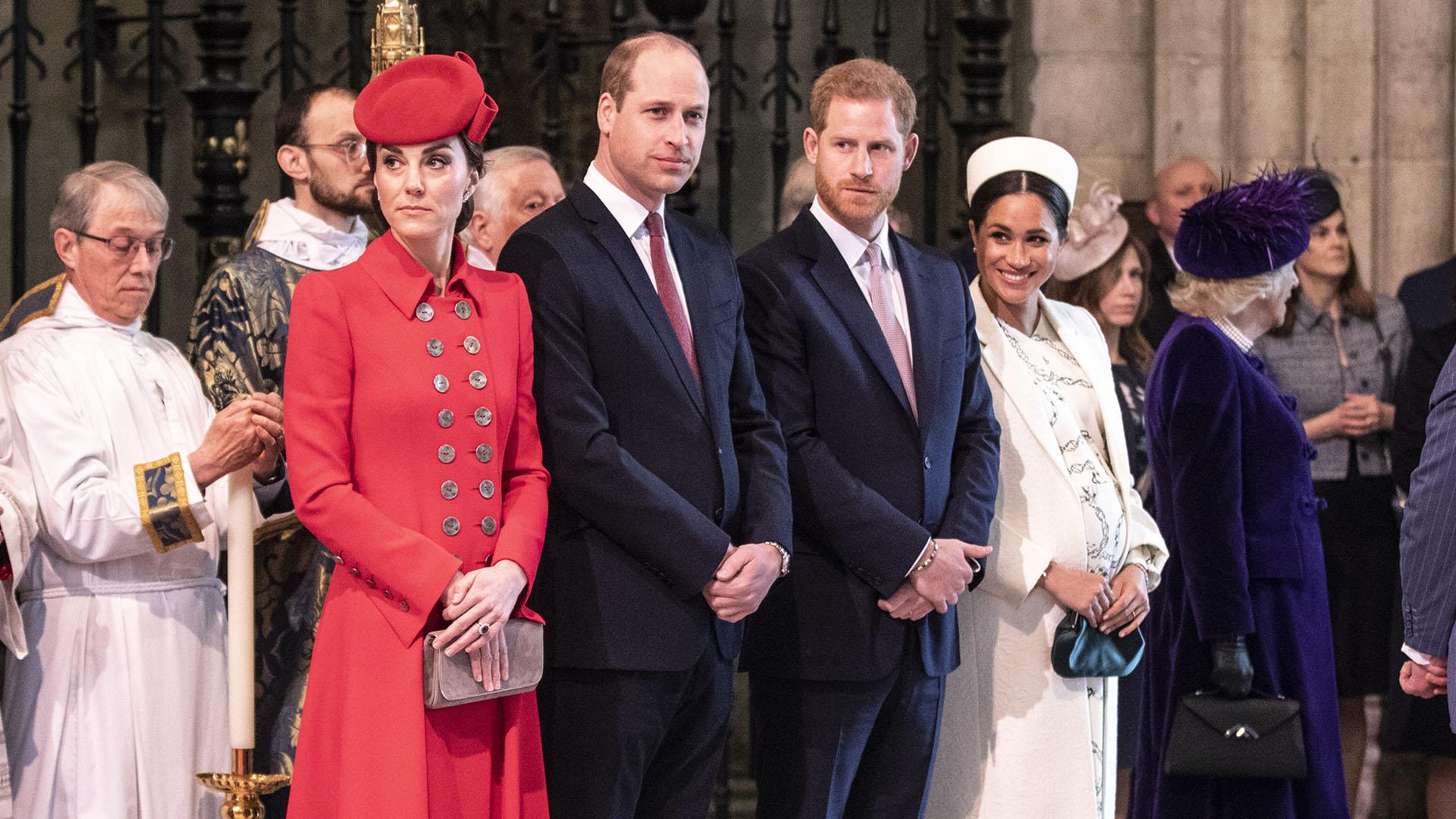 Los Duques de Cambrigde y Sussex junto a la familia real británica festejaron el Día del Commonwealth en la Abadía de Westminister de Londres