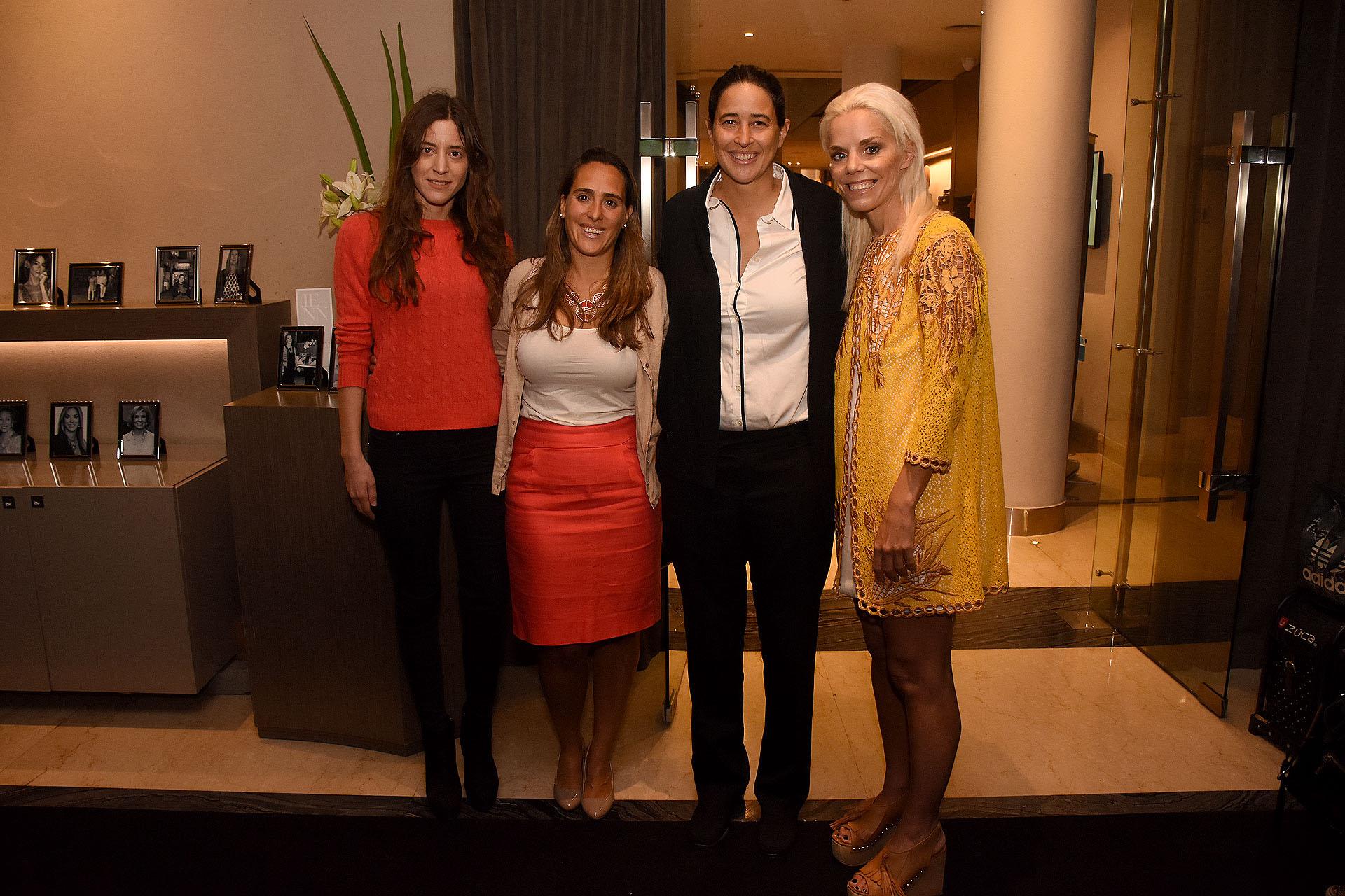 Manuela Rattazzi -hermana de Alexia-; Teresita Ormaechea -responsable de relaciones institucionales de PANAACEA; Alexia Rattazzi y Agustina Rossi