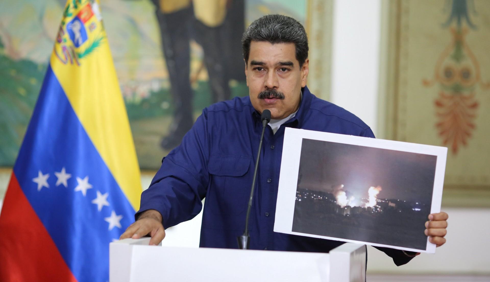 Maduro insiste en que todo se trató de un sabotaje de EEUU(Palacio de Miraflores via REUTERS)