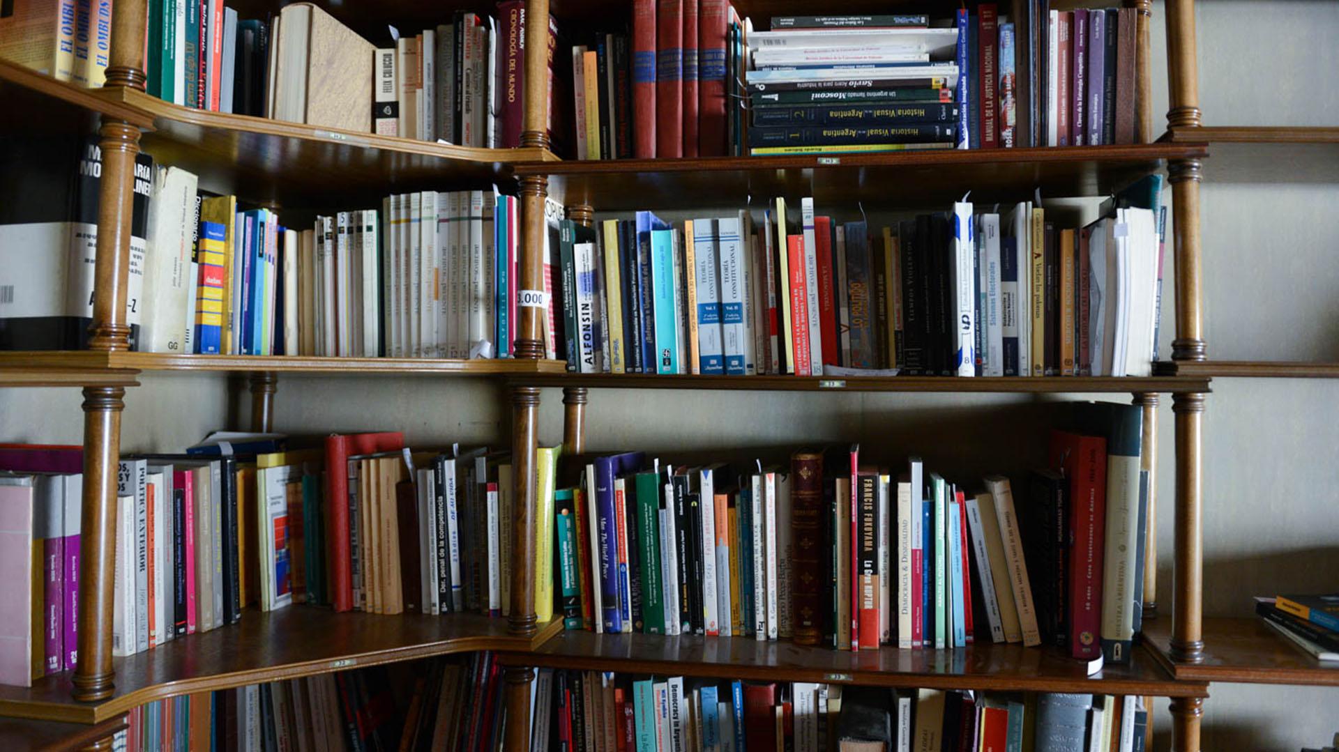 La Biblioteca de Alfonsín que donó su familia (Prensa: BNMM)