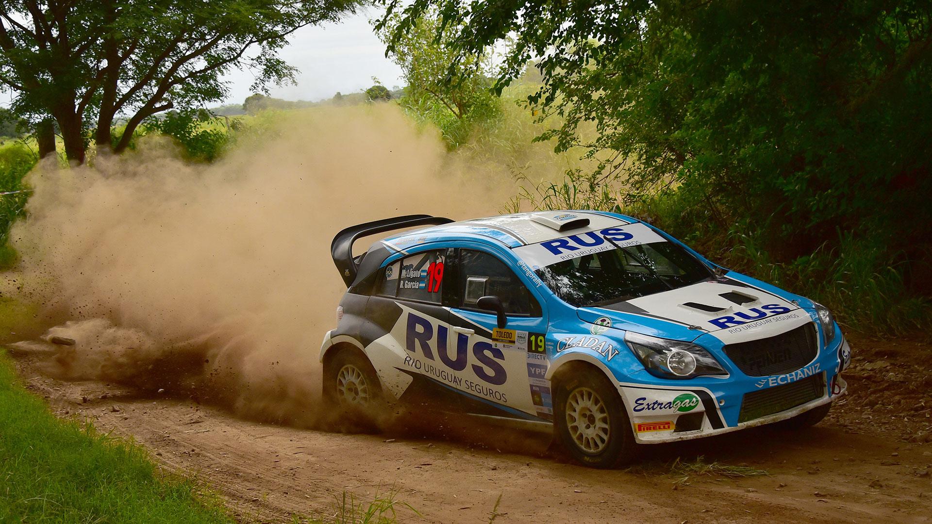 Ligato en acción: se quedó con el triunfo en la apertura del campeonato corrida en Toledo, provincia de Córdoba (Foto: Prensa Rally Argentino)