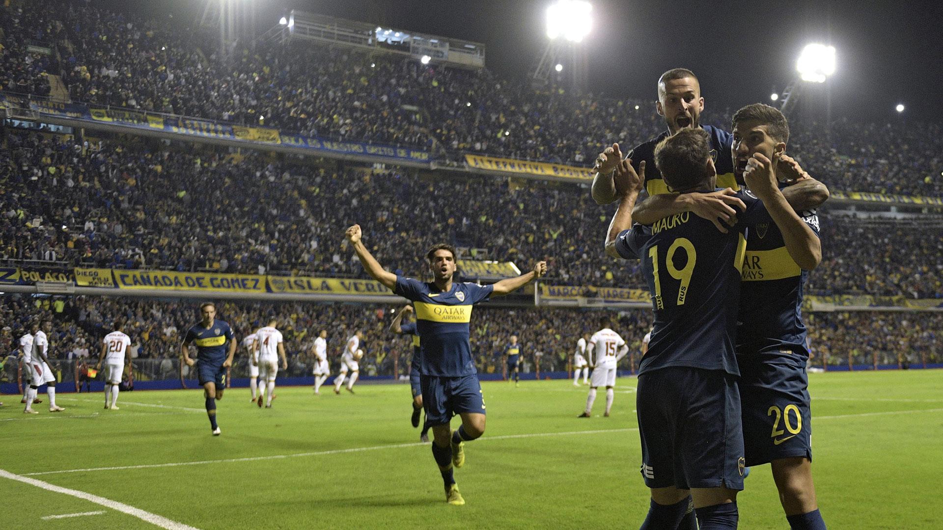 En su segunda presentación por la Copa Libertadores, Boca superó 3-0 a Deportes Tolima, de Colombia (AFP)