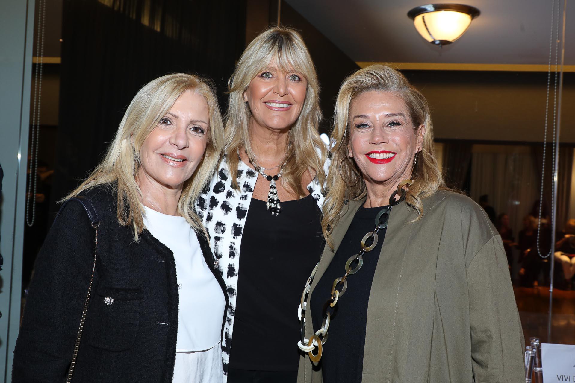 Susana Roccasalvo, Marcela Gotlib y Marcela Tinayre estuvieron en la primera fila del fashion show