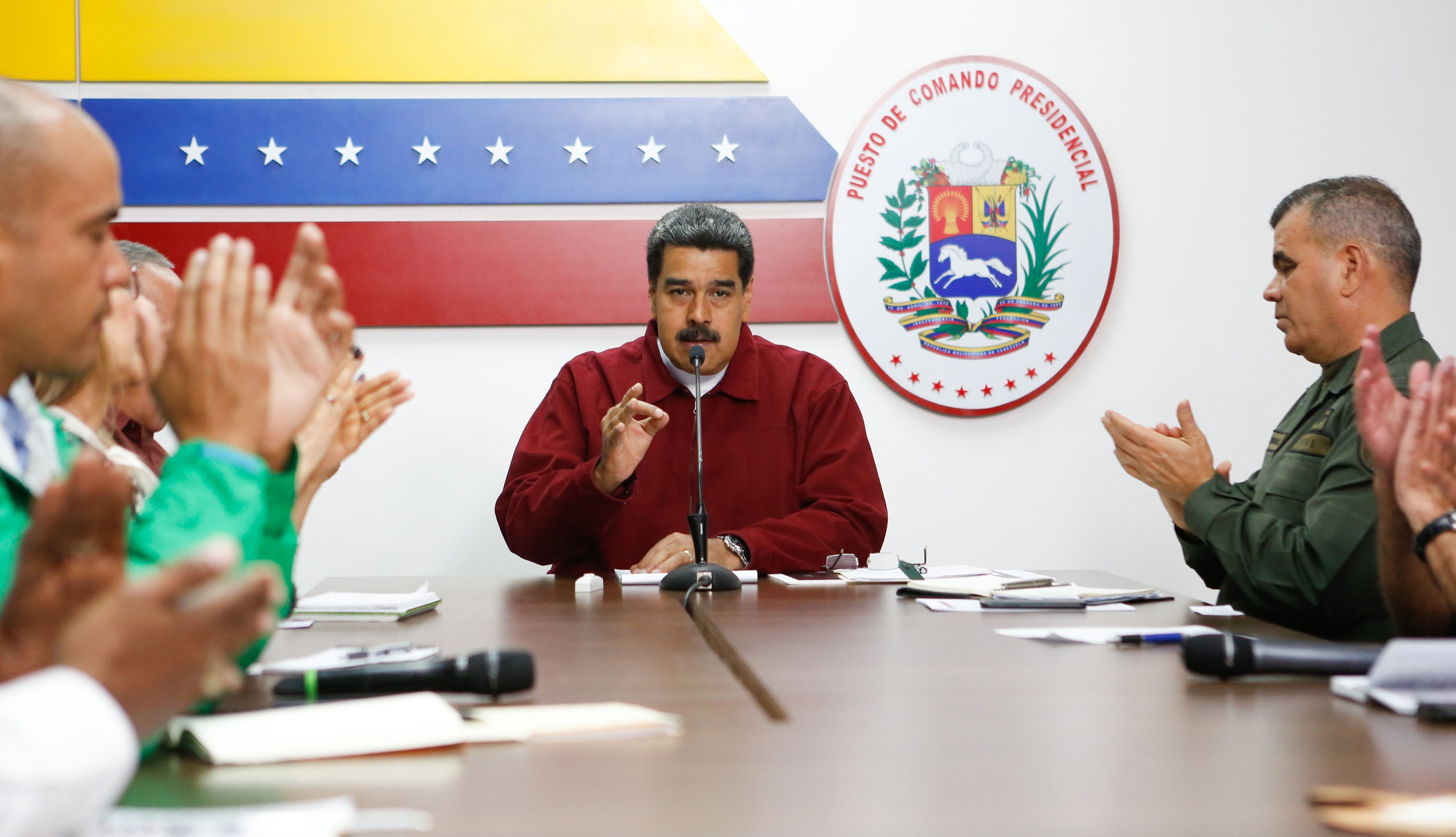 Nicolás Maduro, en un mensaje transmitido por cadena nacional (AFP)