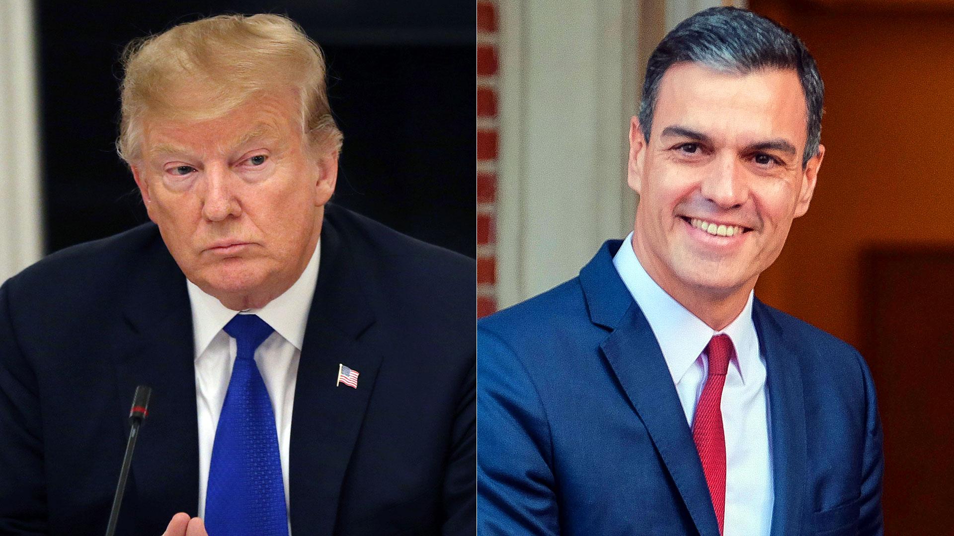 Donald Trump y Pedro Sánchez podrían conversar para avanzar en la idea de refugiar a desertores del régimen