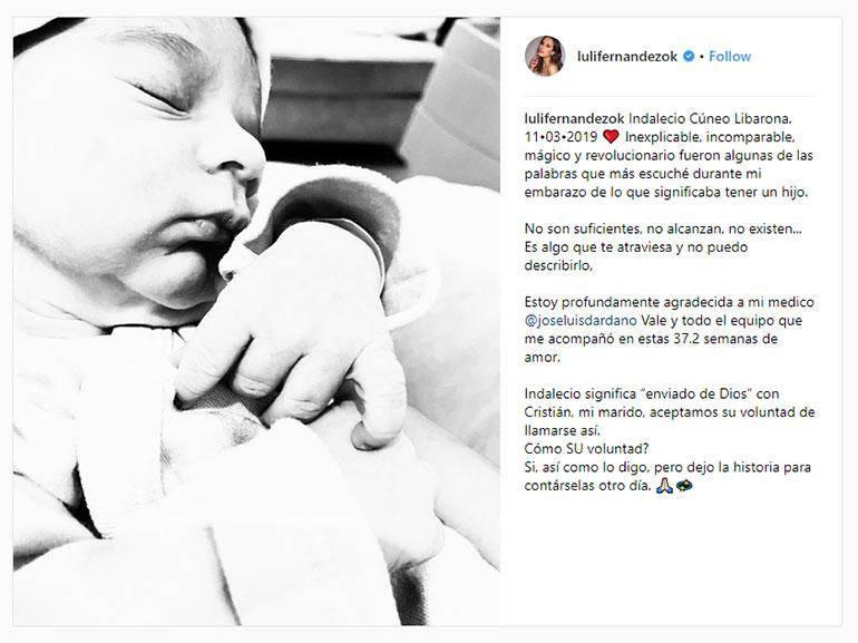 La publicación de Luli Fernández
