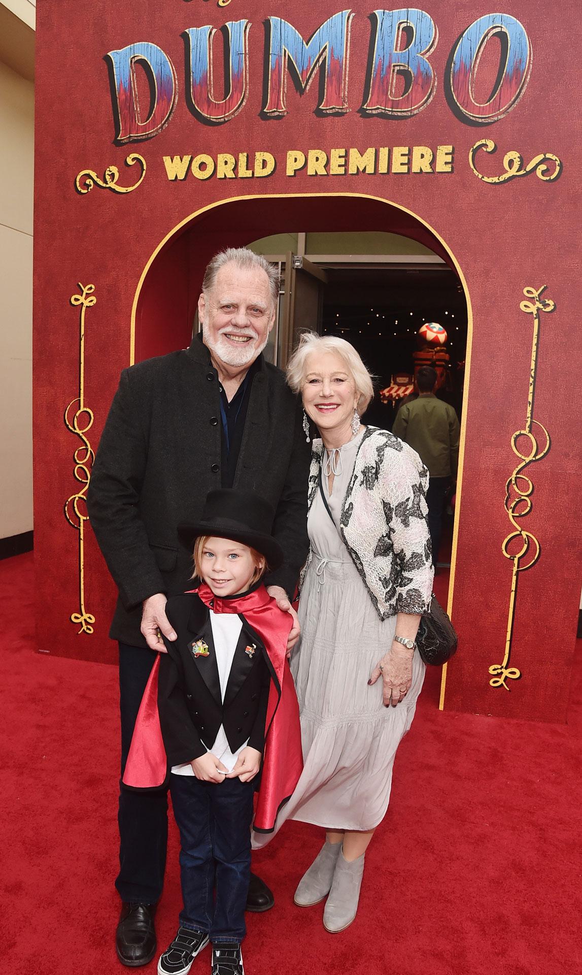 Helen Mirren en familia.