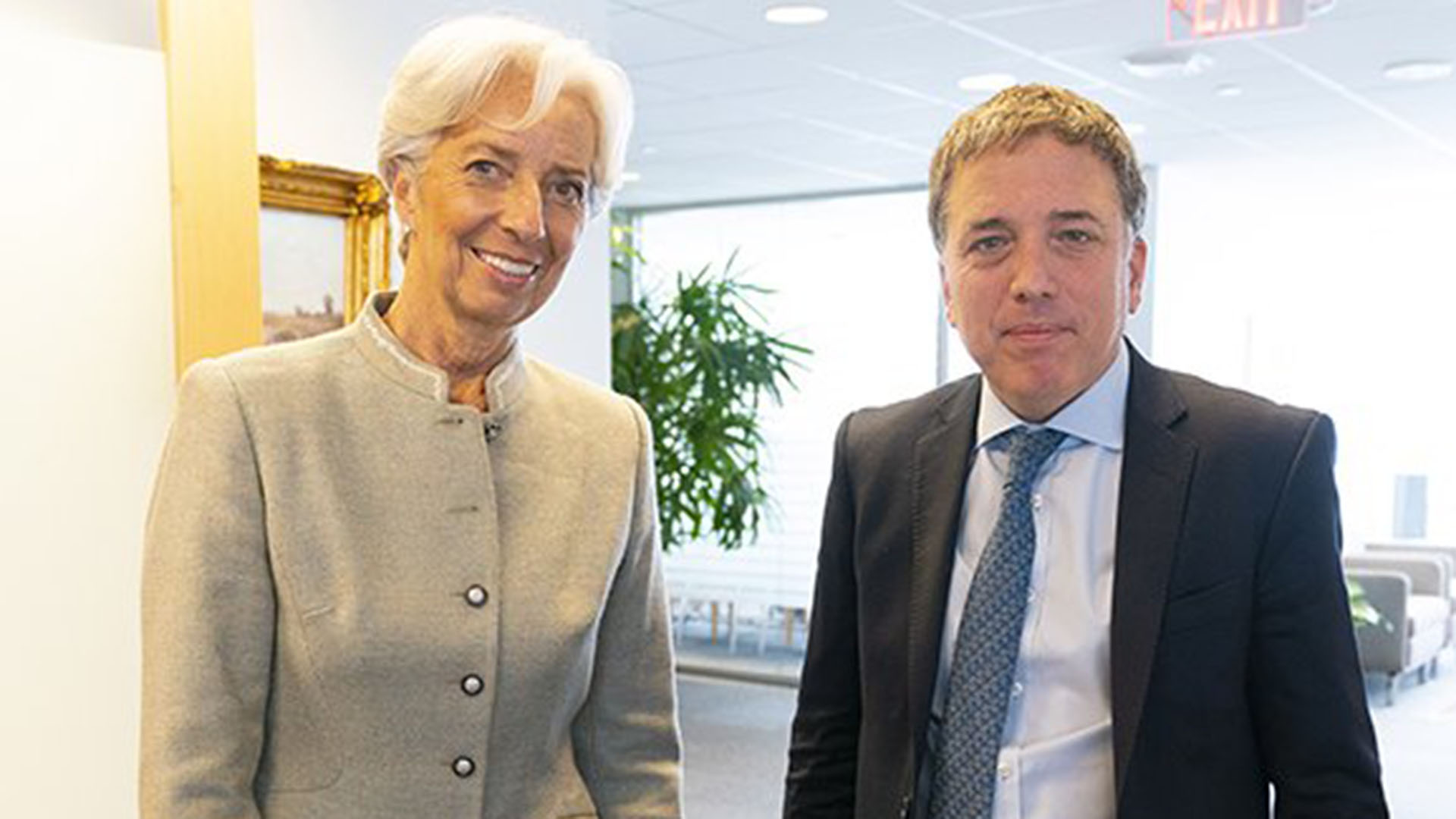 Lagarde y Dujovne, ayer en Washington (@FMInoticias)