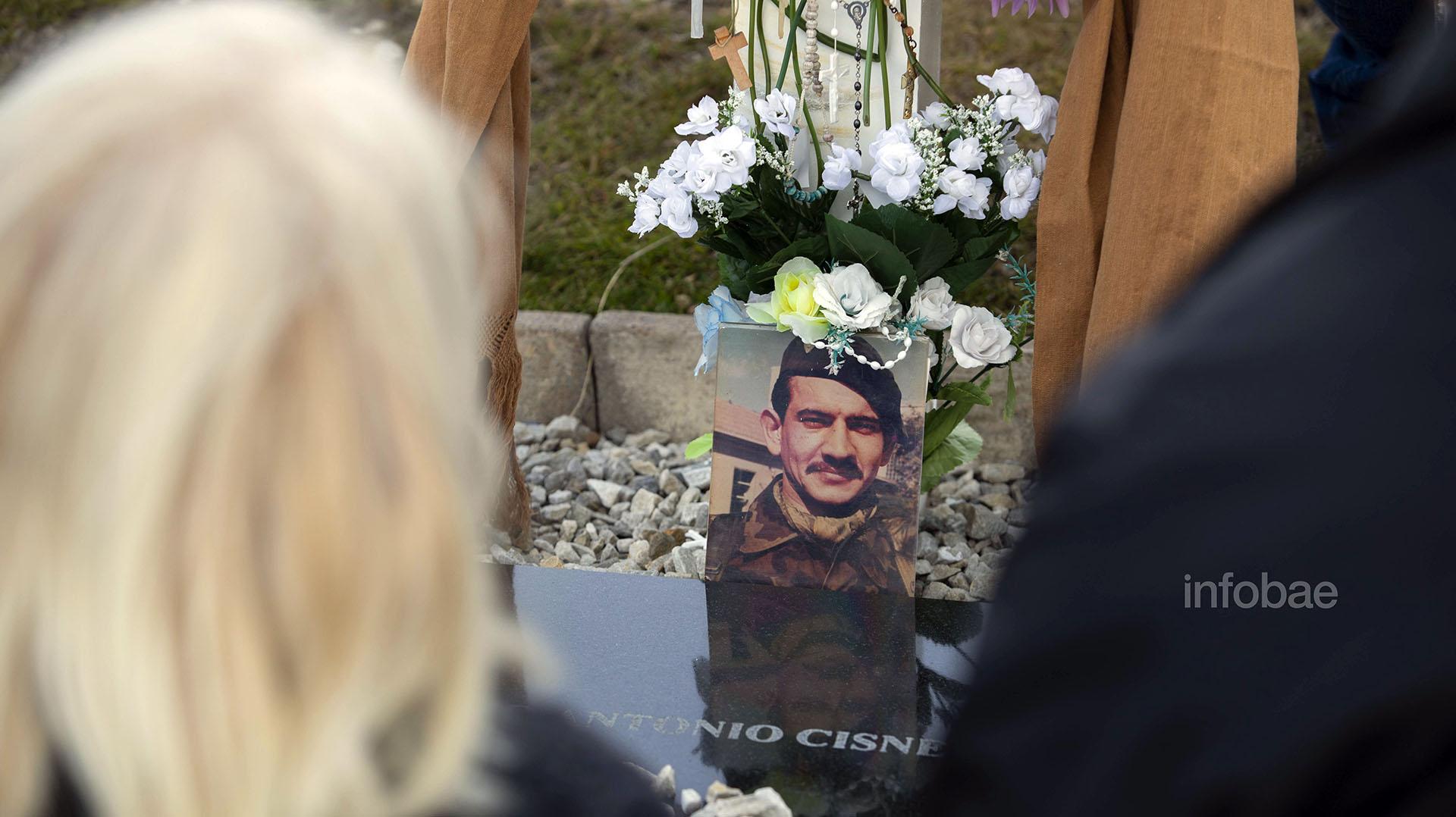 El retrato de Mario Antonio Cisnero, catalogado por muchos de sus ex compañeros como uno de los soldados más valientes en Malvinas