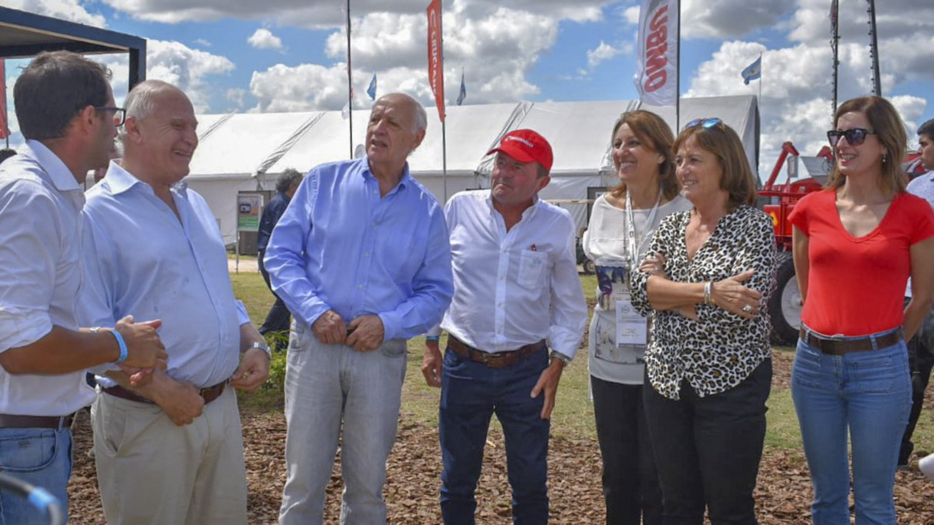 Roberto Lavagna y el gobernador Miguel Lifschitz esta semana en ExpoAgro (Foto: NA)