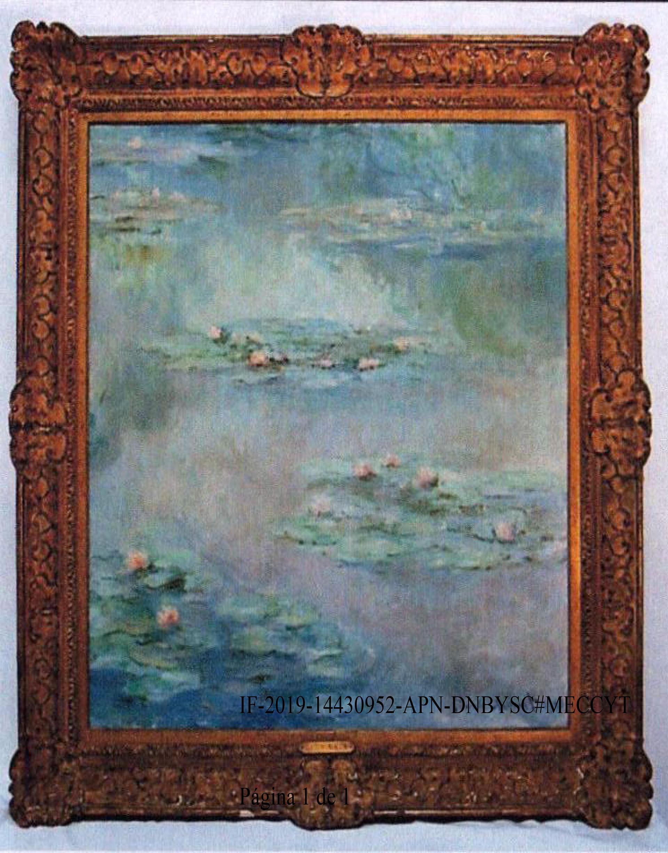 """""""Nympheas"""", el cuadro de Claude Monet que irá a remate."""