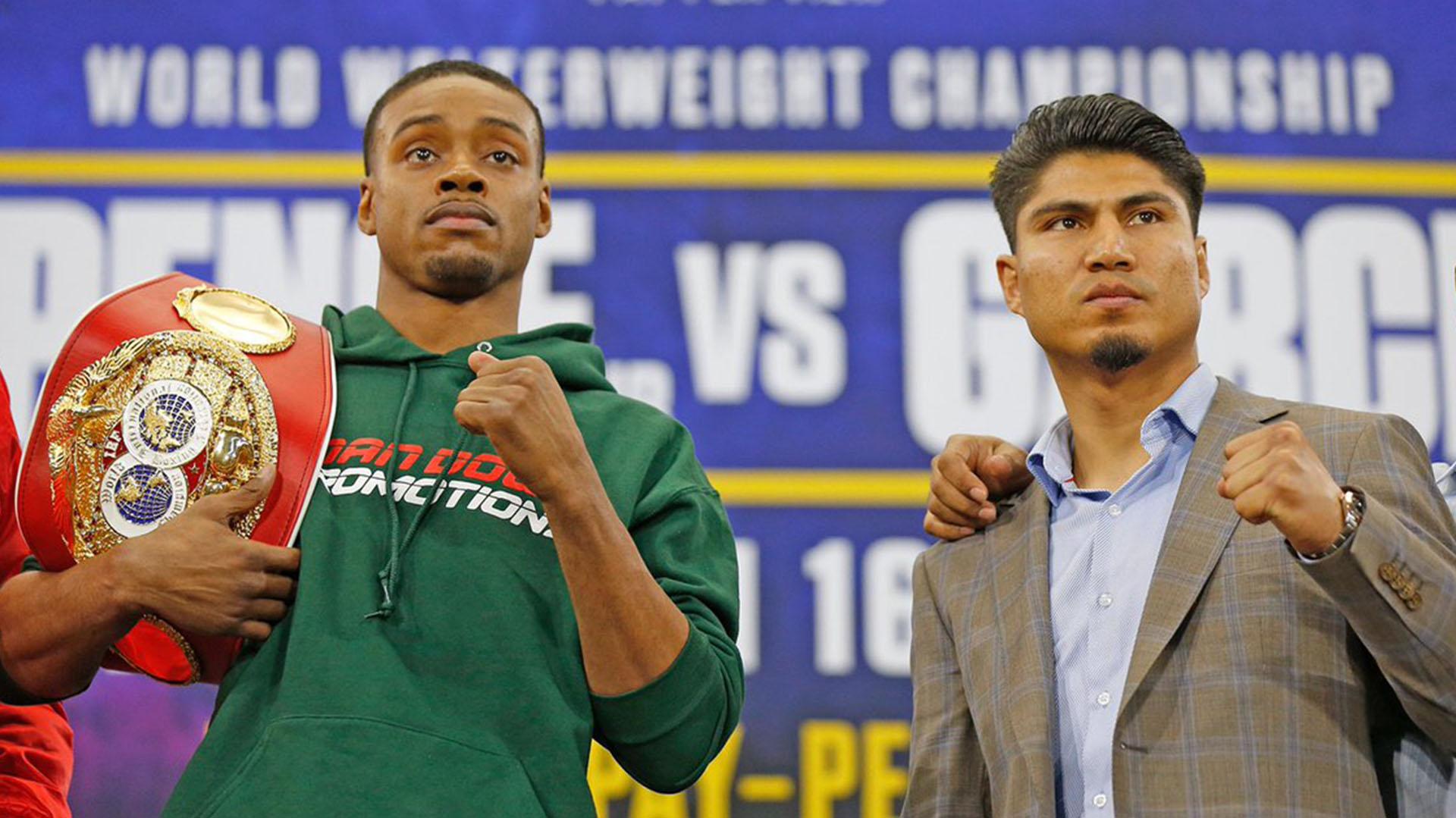 Tanto Spence Jr. como Mikey García llegaron a este combate invictos (@GarciaBoxing)