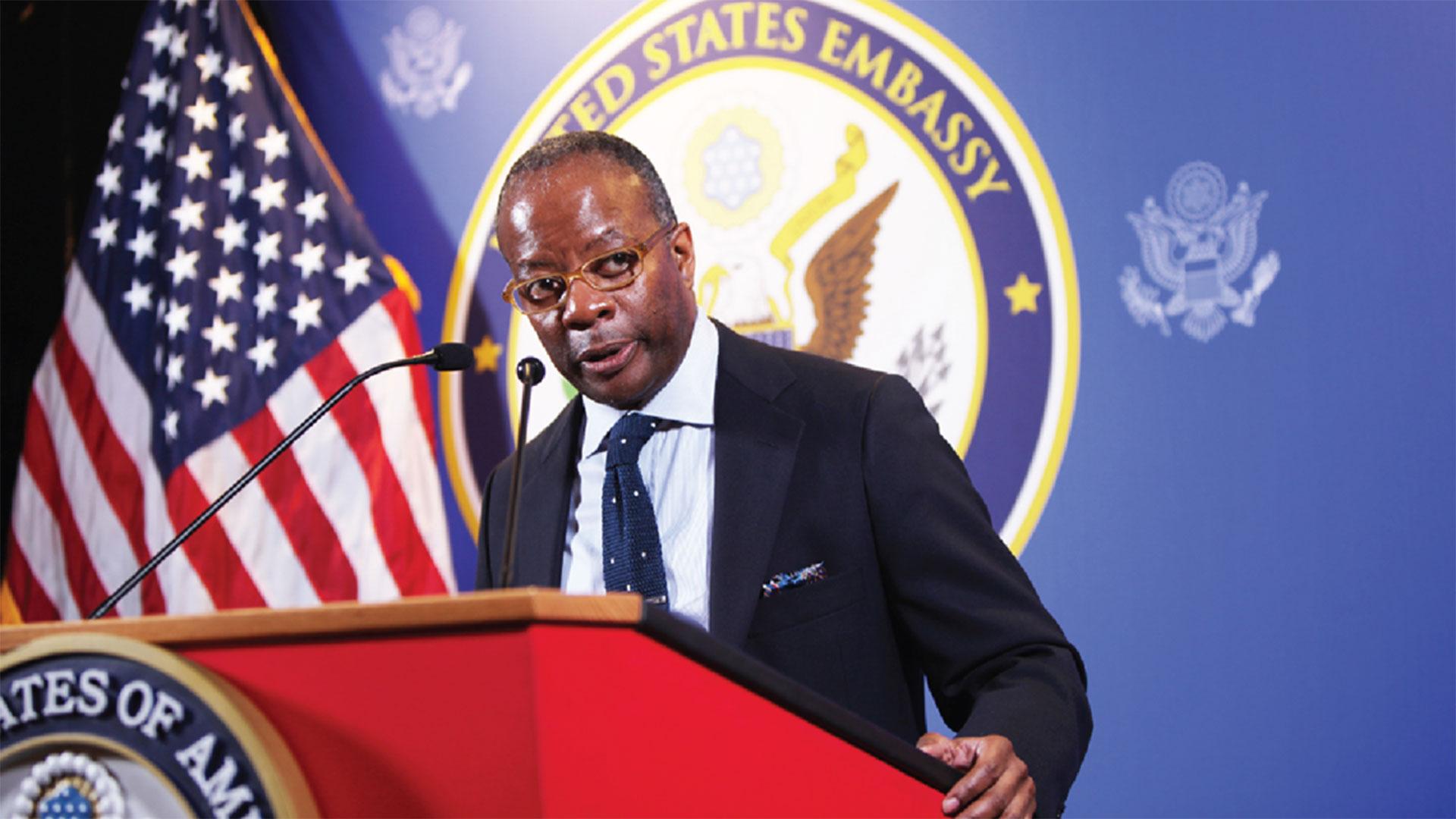 Todd Robinson, asesor principal para América Central de la Oficina de Asuntos del Hemisferio Occidental del Departamento de Estado de los EEUU (AFP)