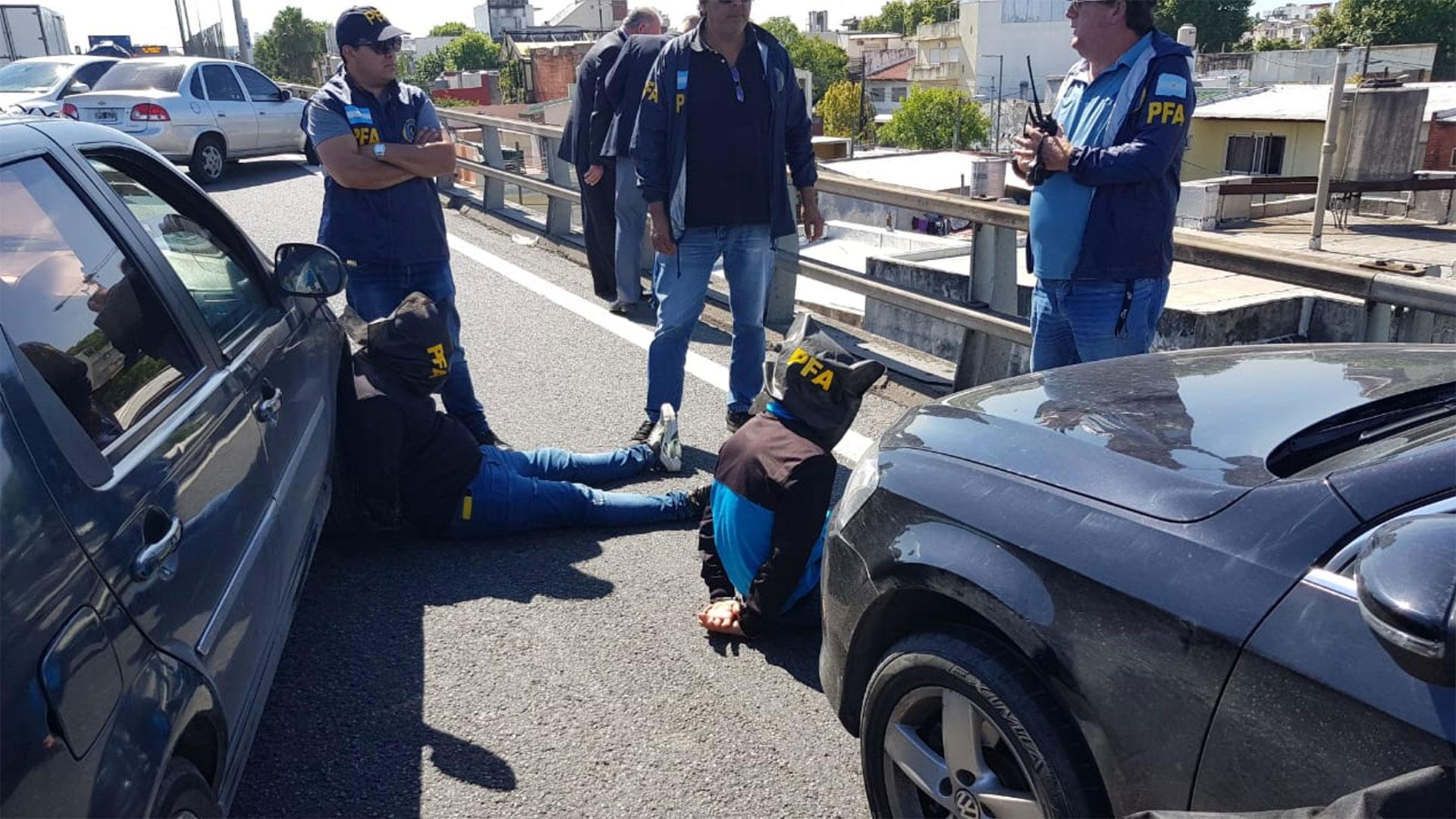 Los detenidos sobre la Autopista 25 de Mayo, mano a Capital Federal