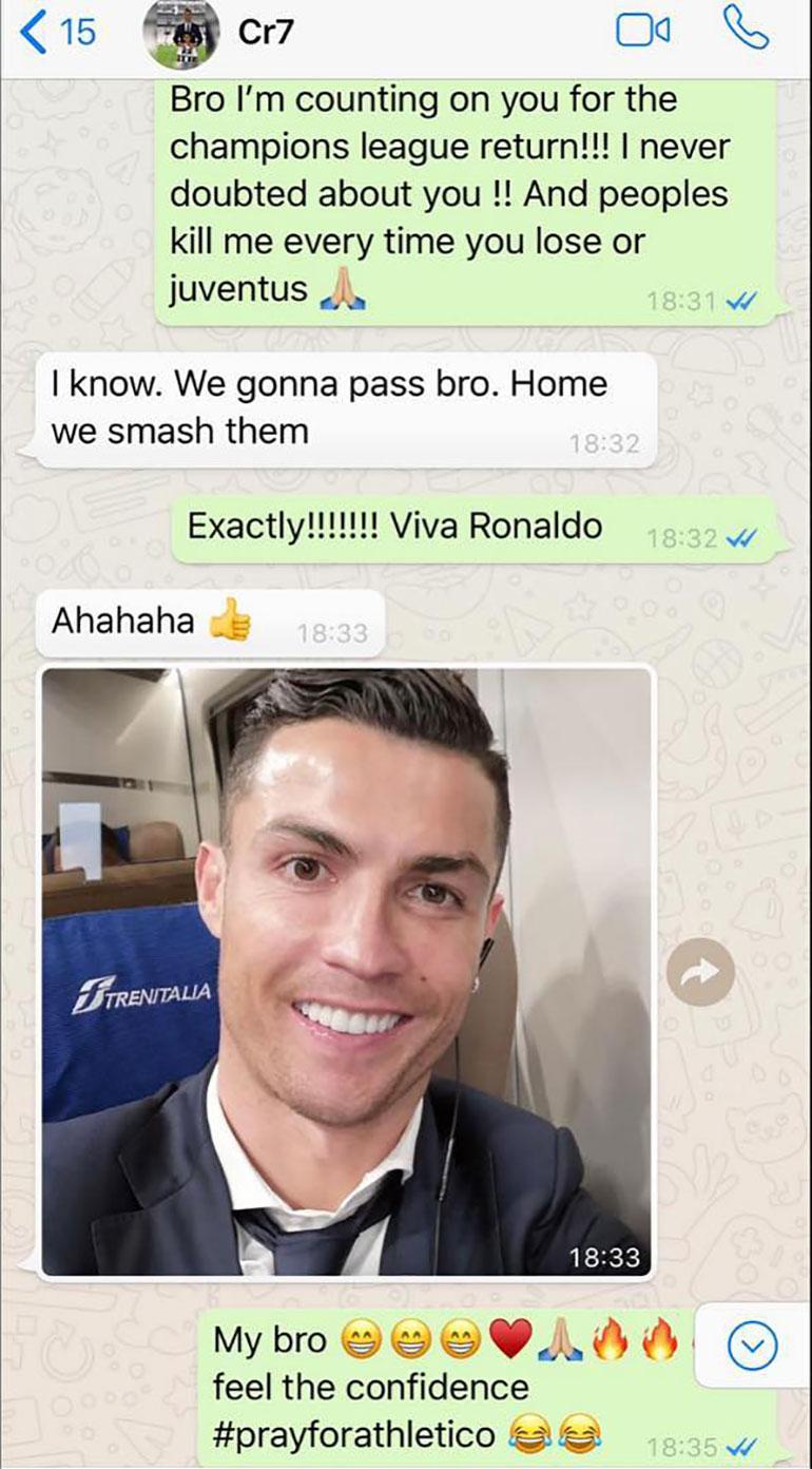 El chat de Whatsapp entre Evra y Cristiano Ronaldo