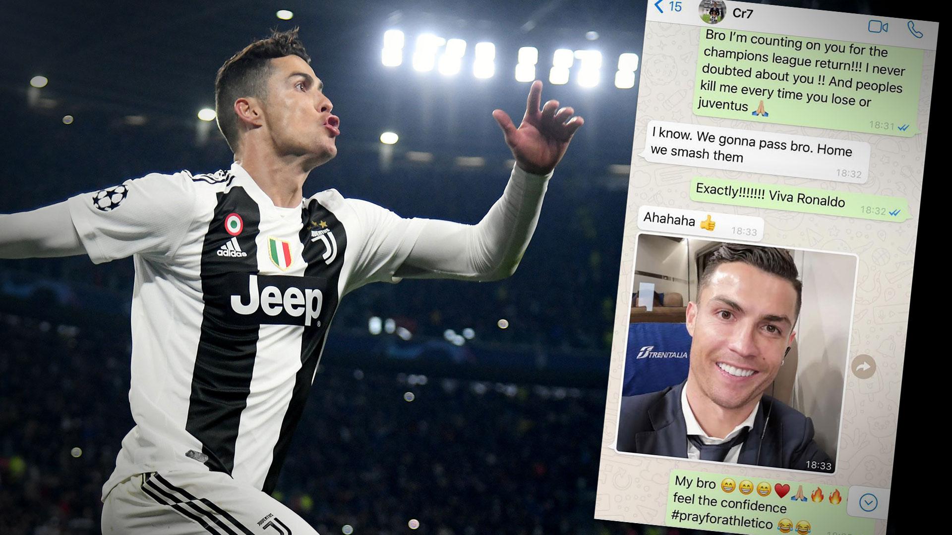 Ronaldo le anticipó a Evra por WhatsApp que iba a aplastar al Atlético en Turín