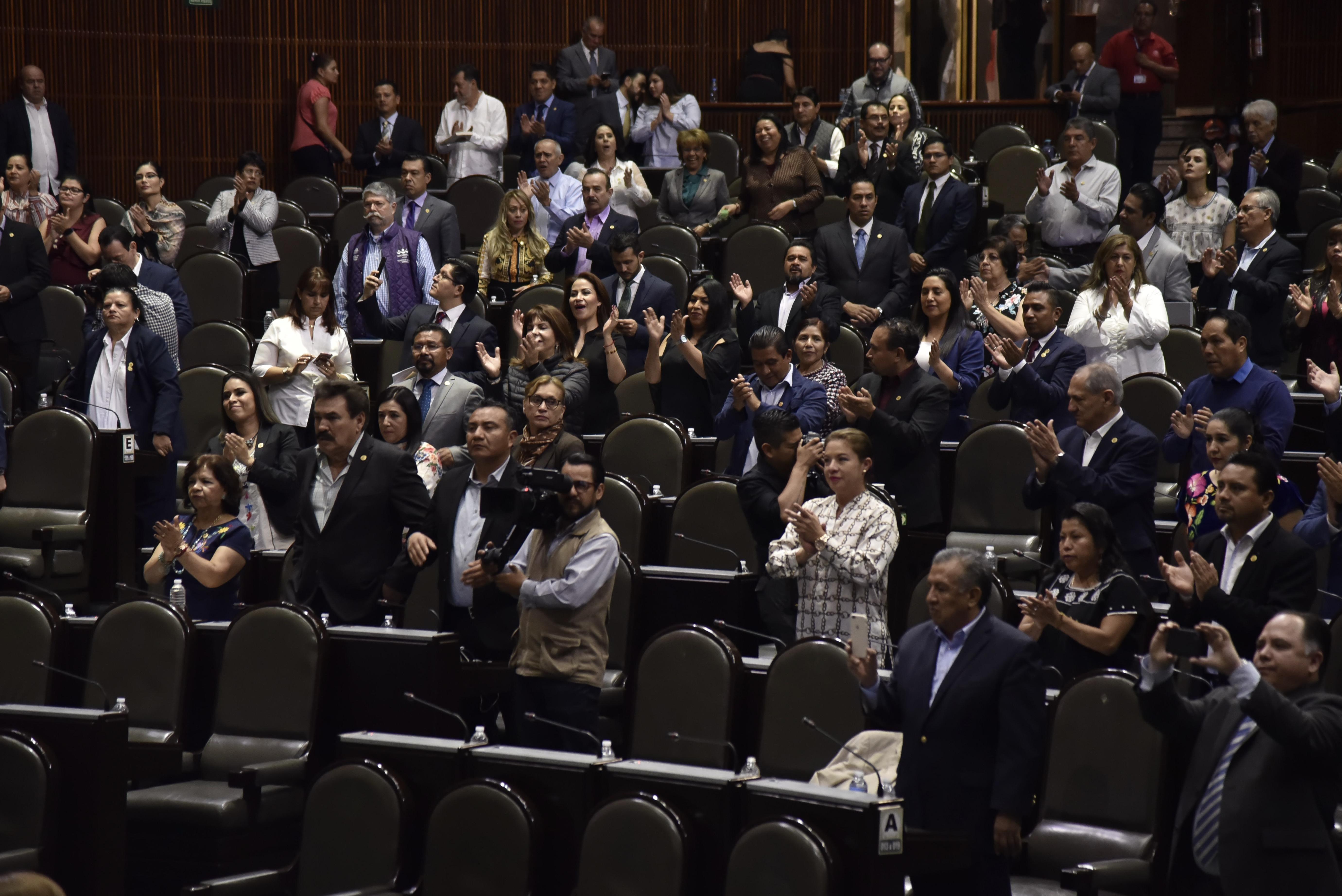 Se realizó la Declaratoria de Reforma Constitucional en materia de Guardia Nacional durante la Sesión Ordinaria de la LXIV Legislatura de la Cámara de Diputados. FOTO: MARIO JASSO /CUARTOSCURO.COM