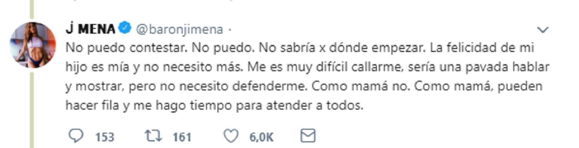 Las palabras de Jimena Barón ante la publicación de Daniel Osvaldo