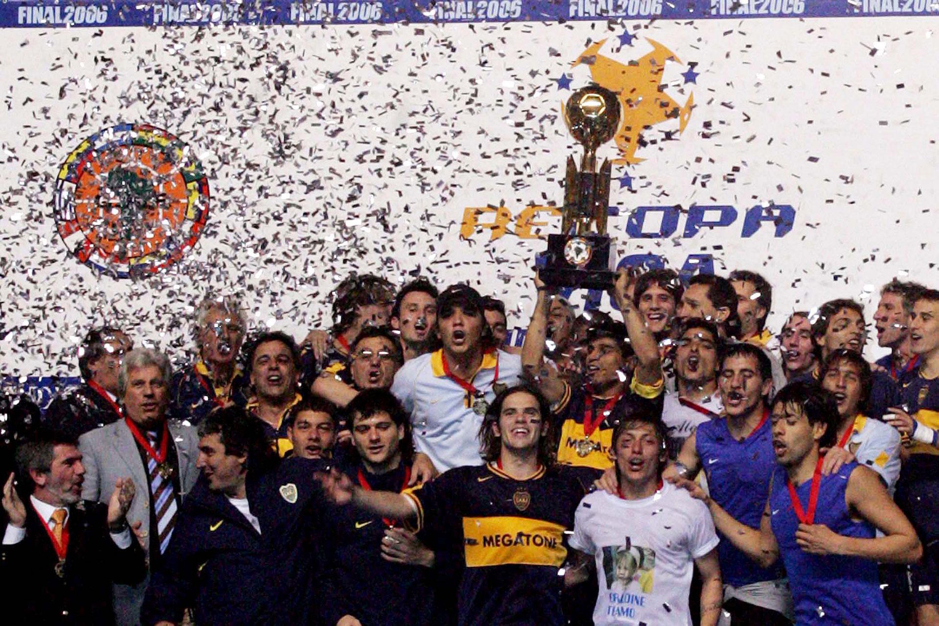 Recopa Sudamericana 2006: Boca pisó fuerte en San Pablo y gritó campeón nuevamente en el continente (Foto Baires)