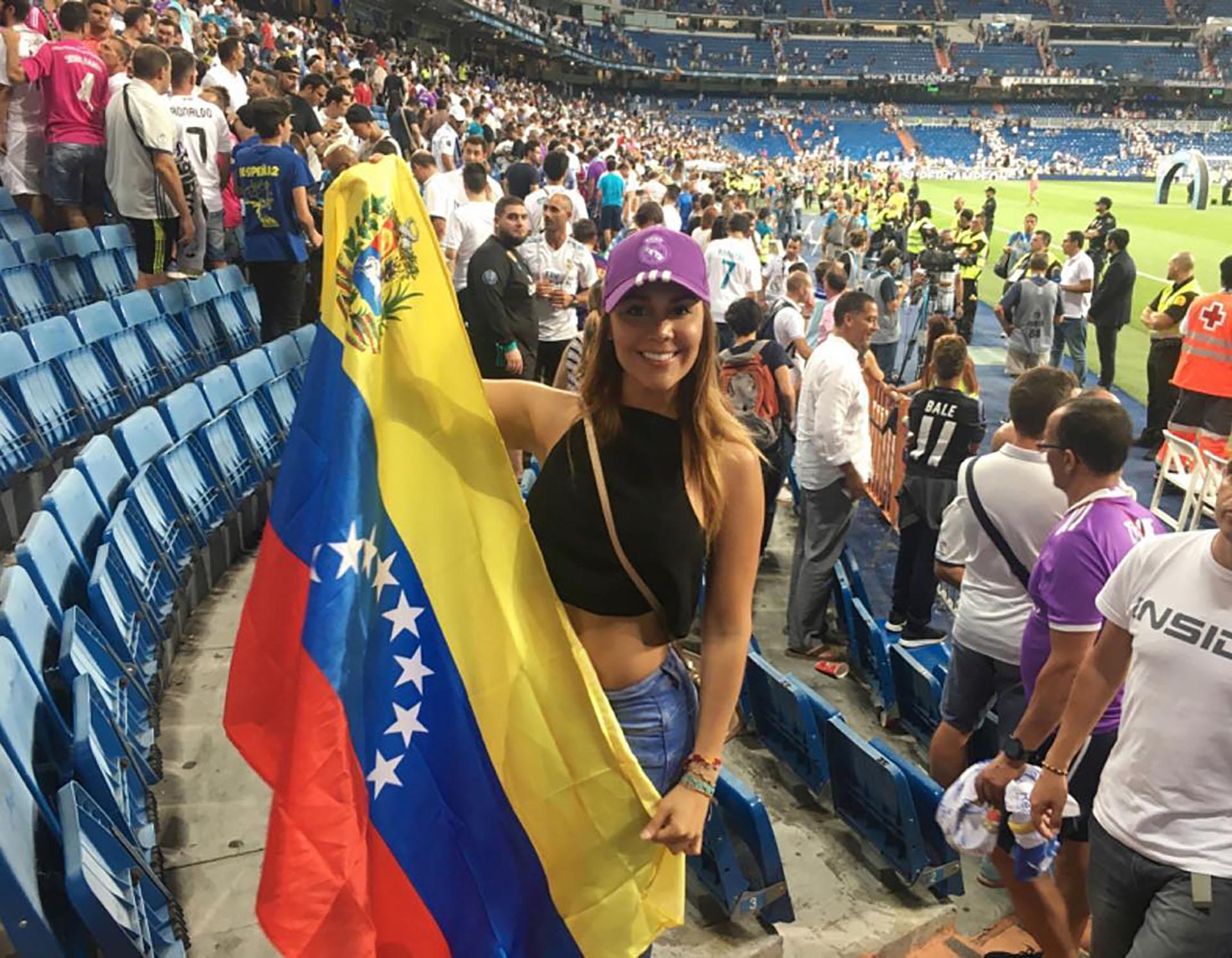 La relación de Alexandra Martínez con Cristiano surgió cuando ella fue a ver al Real Madrid (@alexandramendezof)