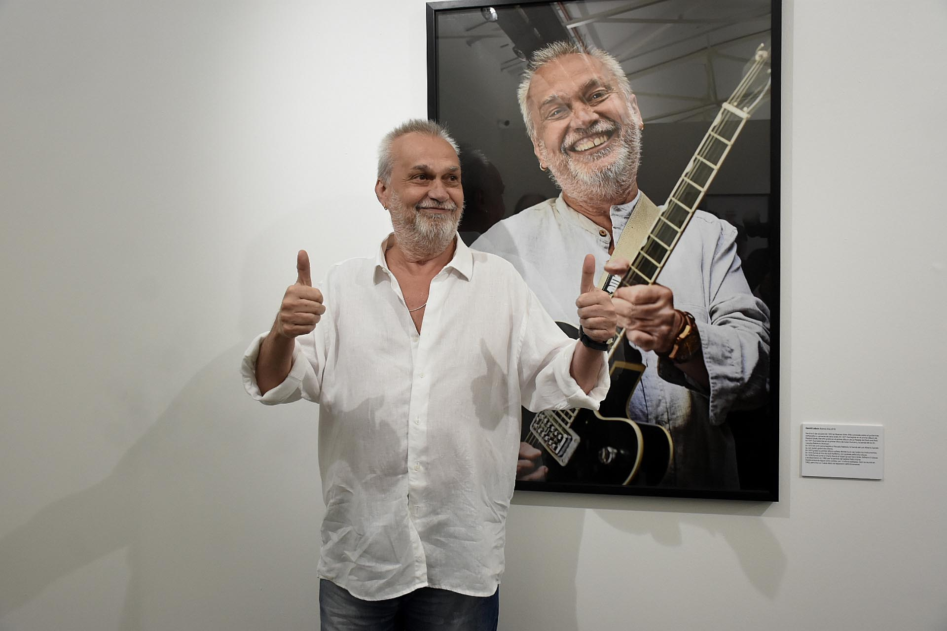 David Lebon, uno de los músicos fotografiados por la artista