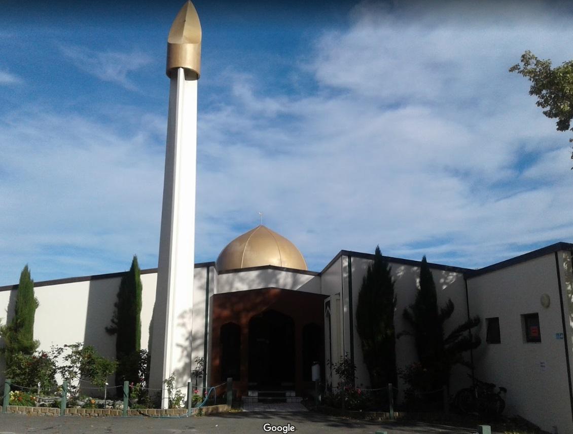 La mezquita Masjid Al Noor de Christchurch, una de las dos que fueron atacadas este viernes (Arif Ejaz/Google maps)