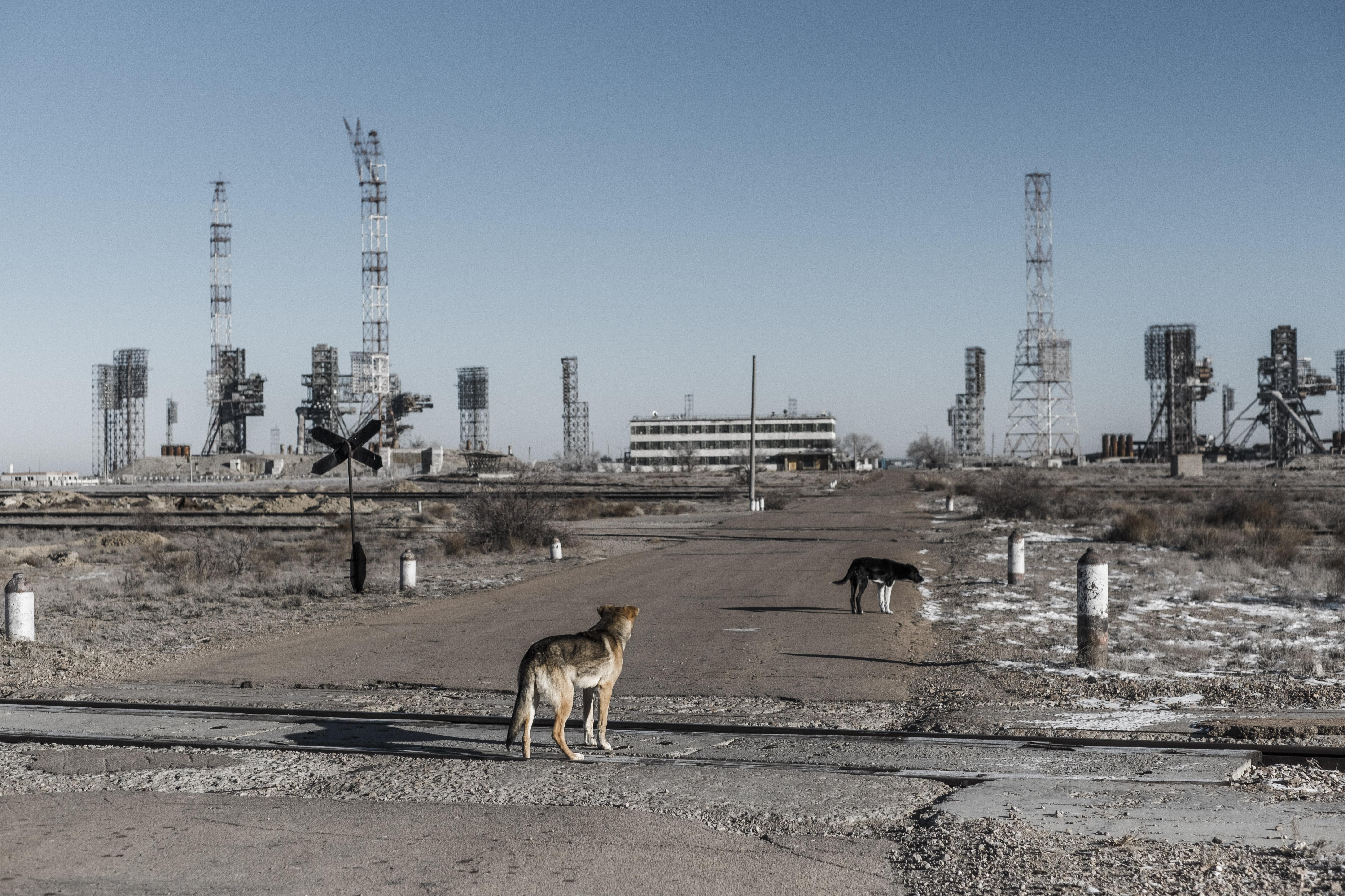 Parte de las instalaciones de lanzamiento. (Maxim Babenko/The New York Times)
