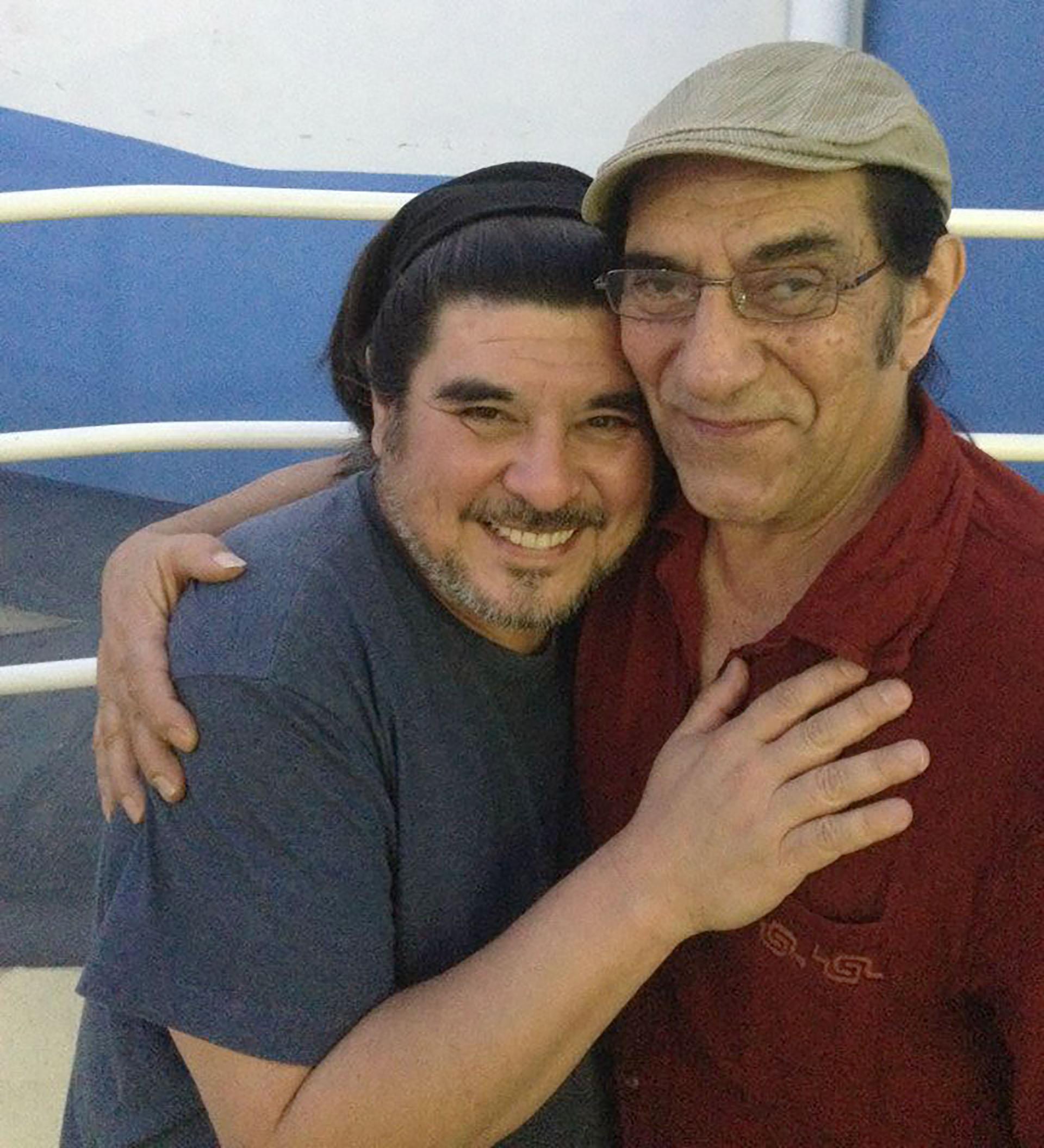 Fabián con Horacio Fontova (Facebook)