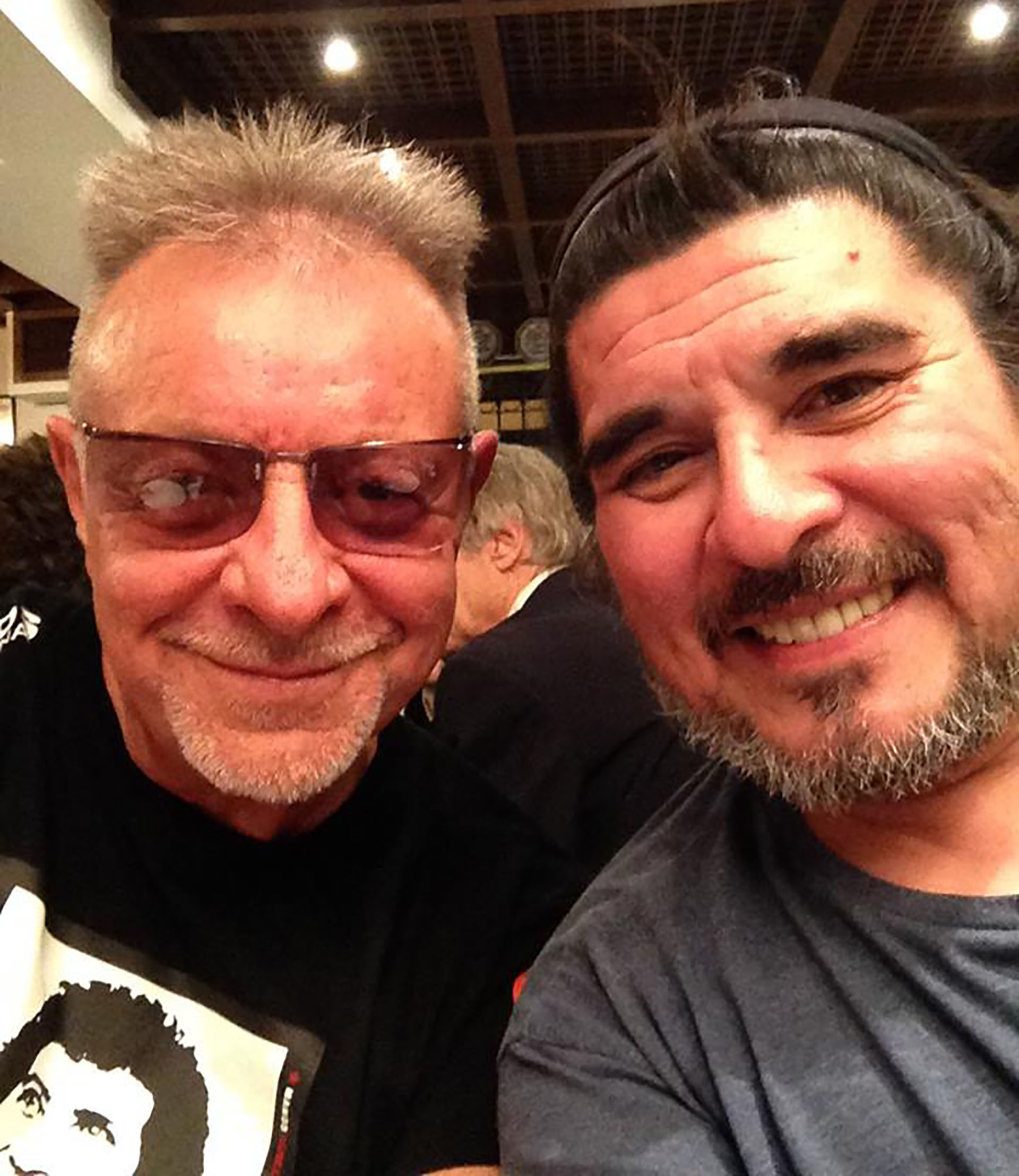Fabián con León Gieco (Facebook)