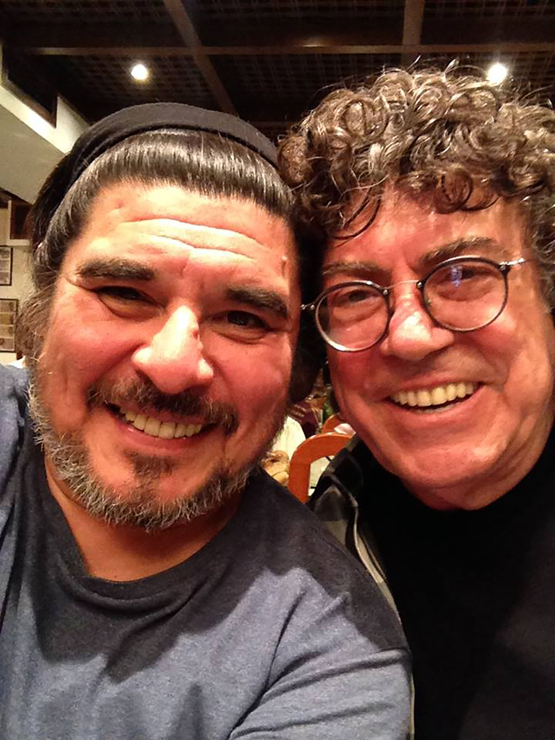 Fabián con Piero (Facebook)
