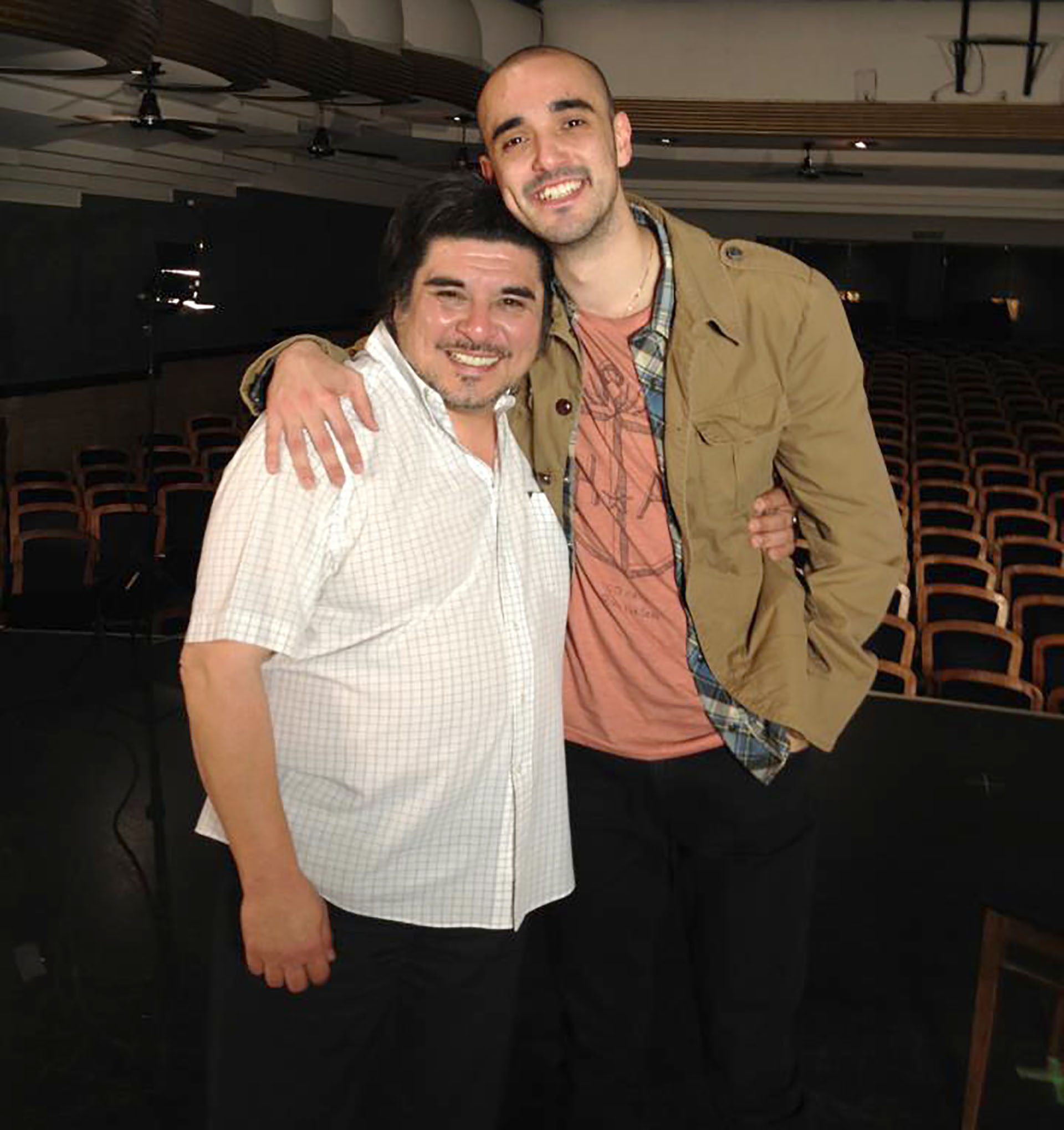 El representante de artistas con Abel Pintos (Facebook)