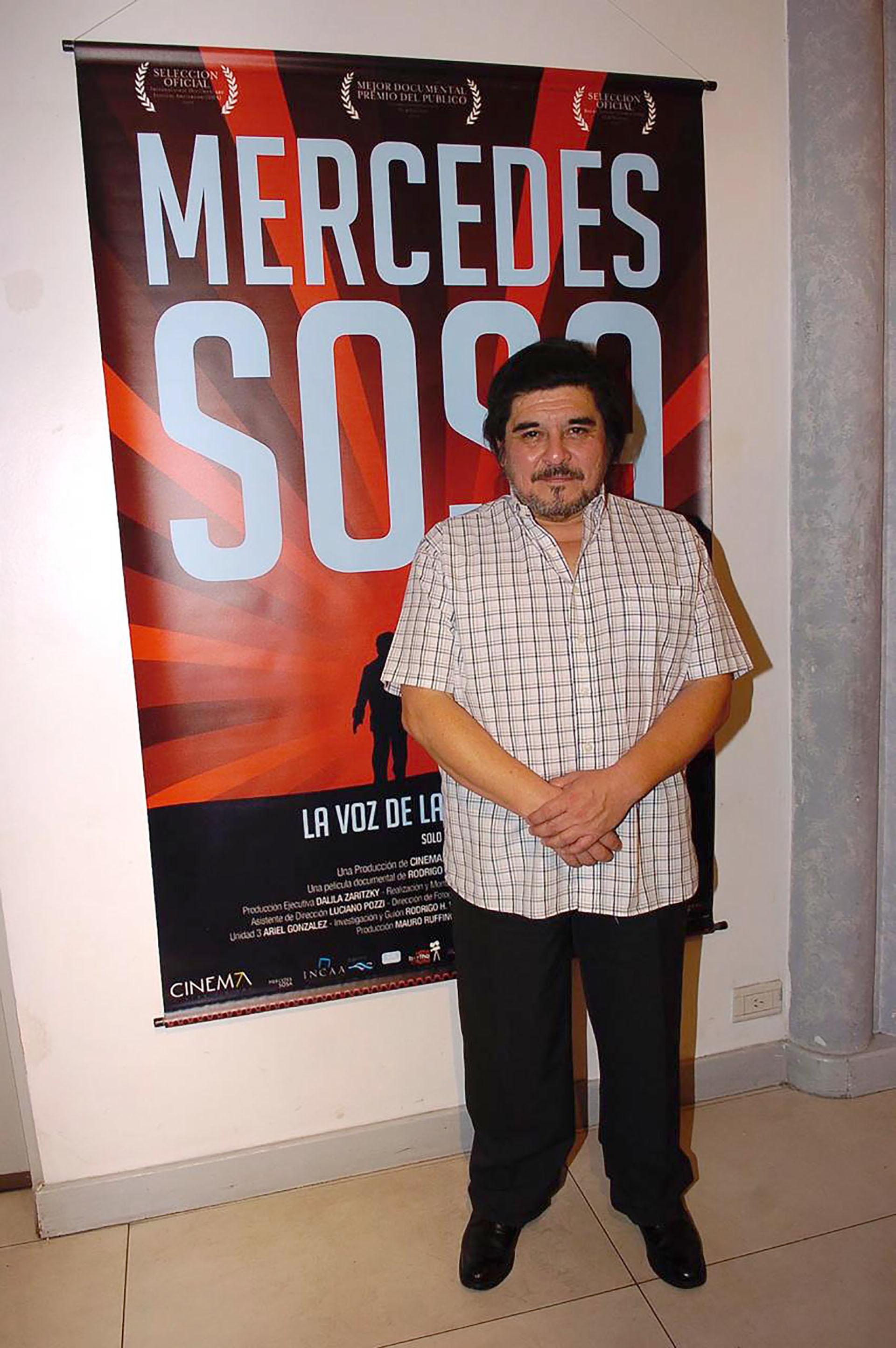 """En la presentación del documental """"Mercedes Sosa, la voz de Lationamérica"""" que realizó como tributo a la gran artista (Verónica Guerman / Teleshow)"""