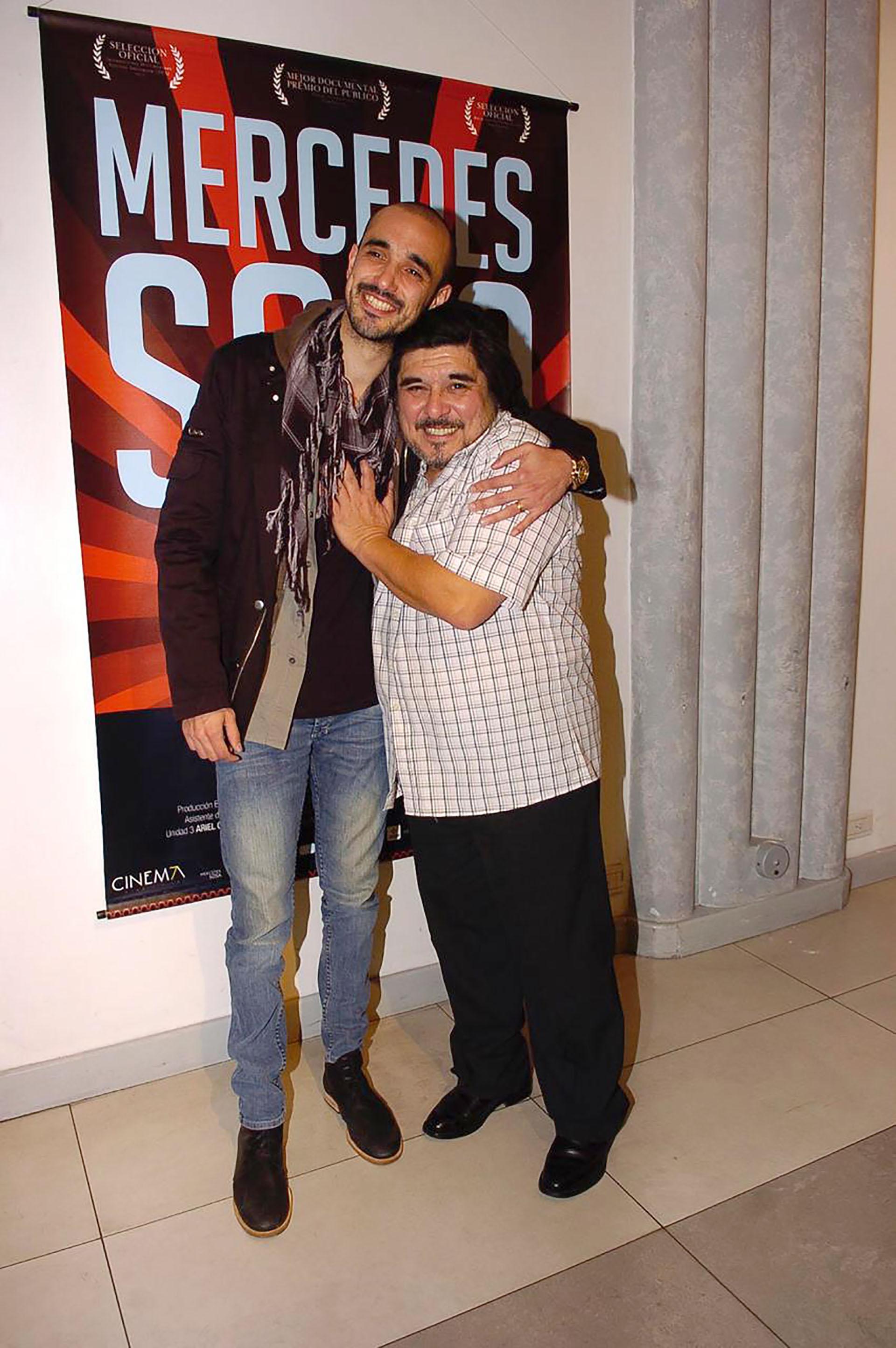 Fabián con Abel Pintos (Verónica Guerman / Teleshow)