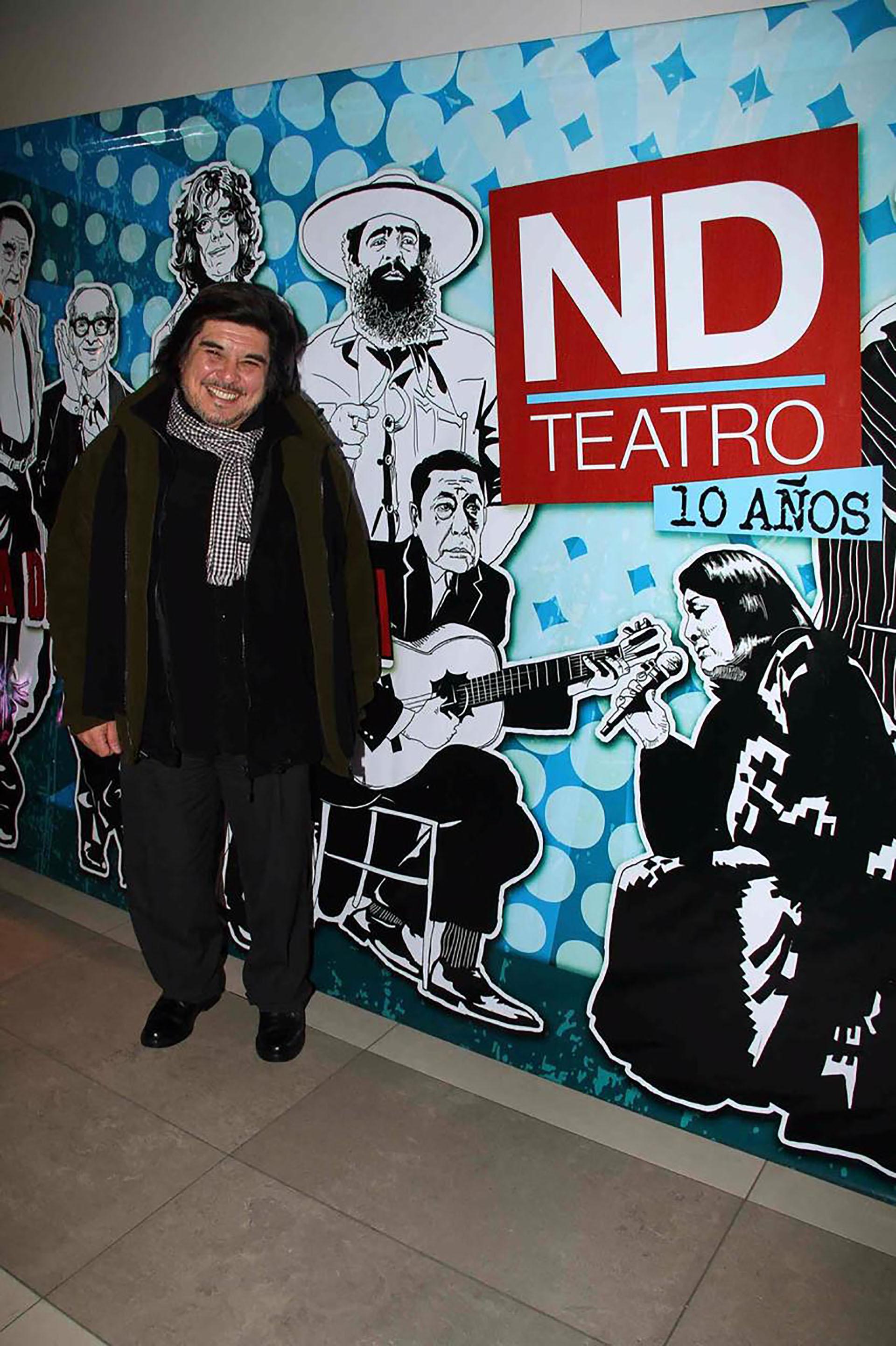 En 2012, el productor musical participó de un tributo que le realizaron a su madre en el ND Ateneo (Verónica Guerman / Teleshow)